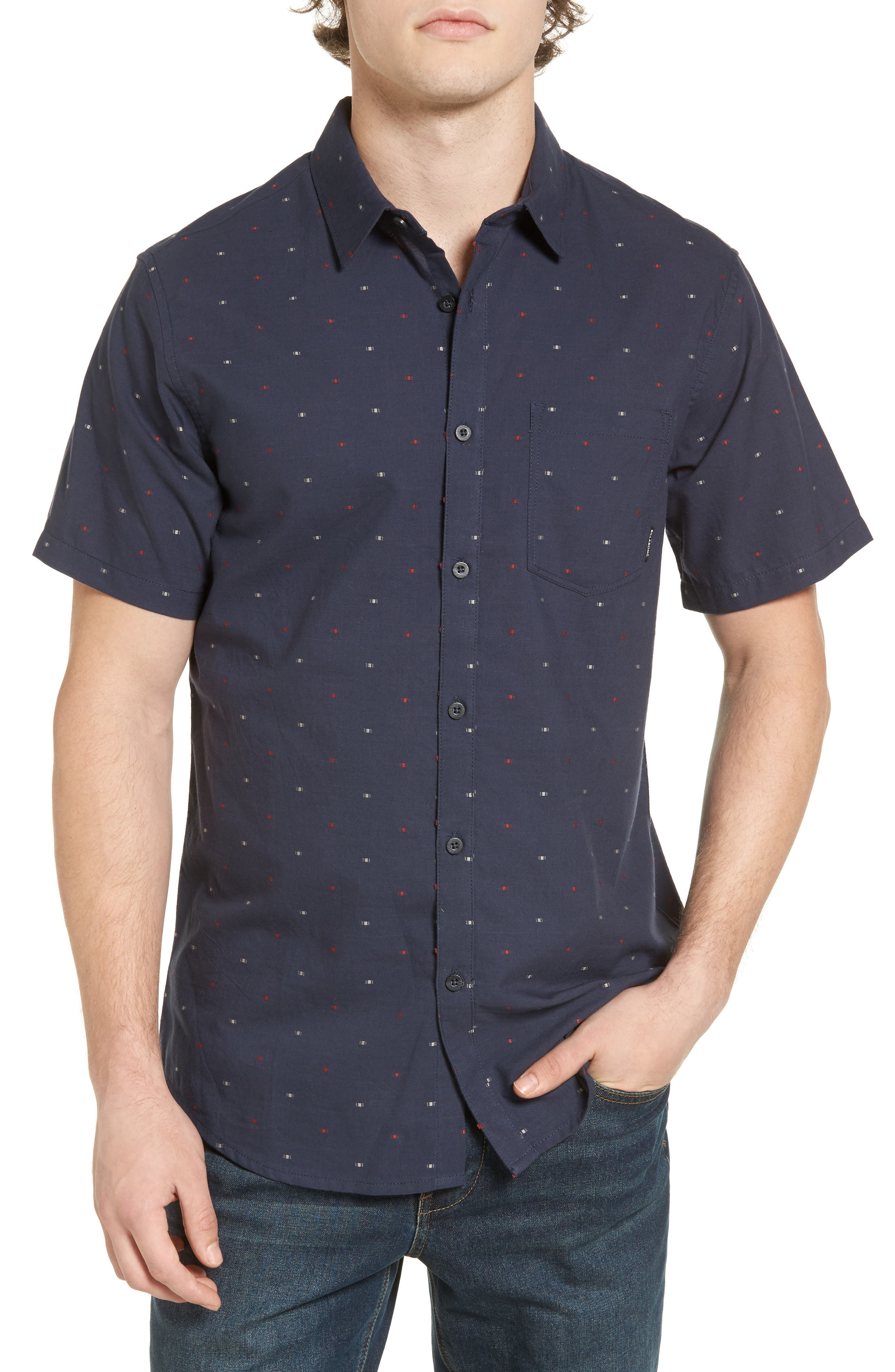 Cruisin Dobby Woven Shirt,                             Main thumbnail 2, color,