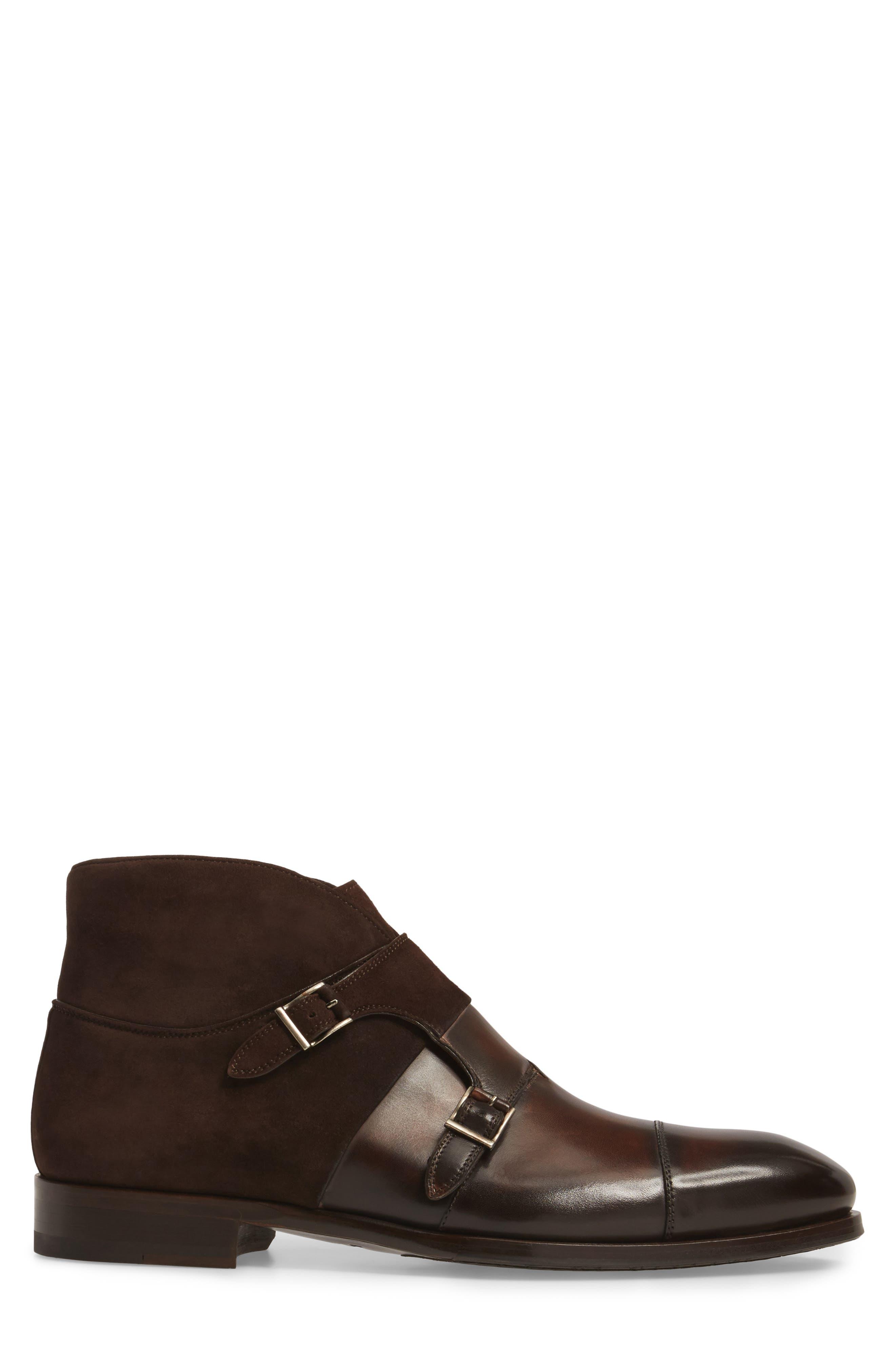 Octavian Double Monk Strap Boot,                             Alternate thumbnail 3, color,                             200