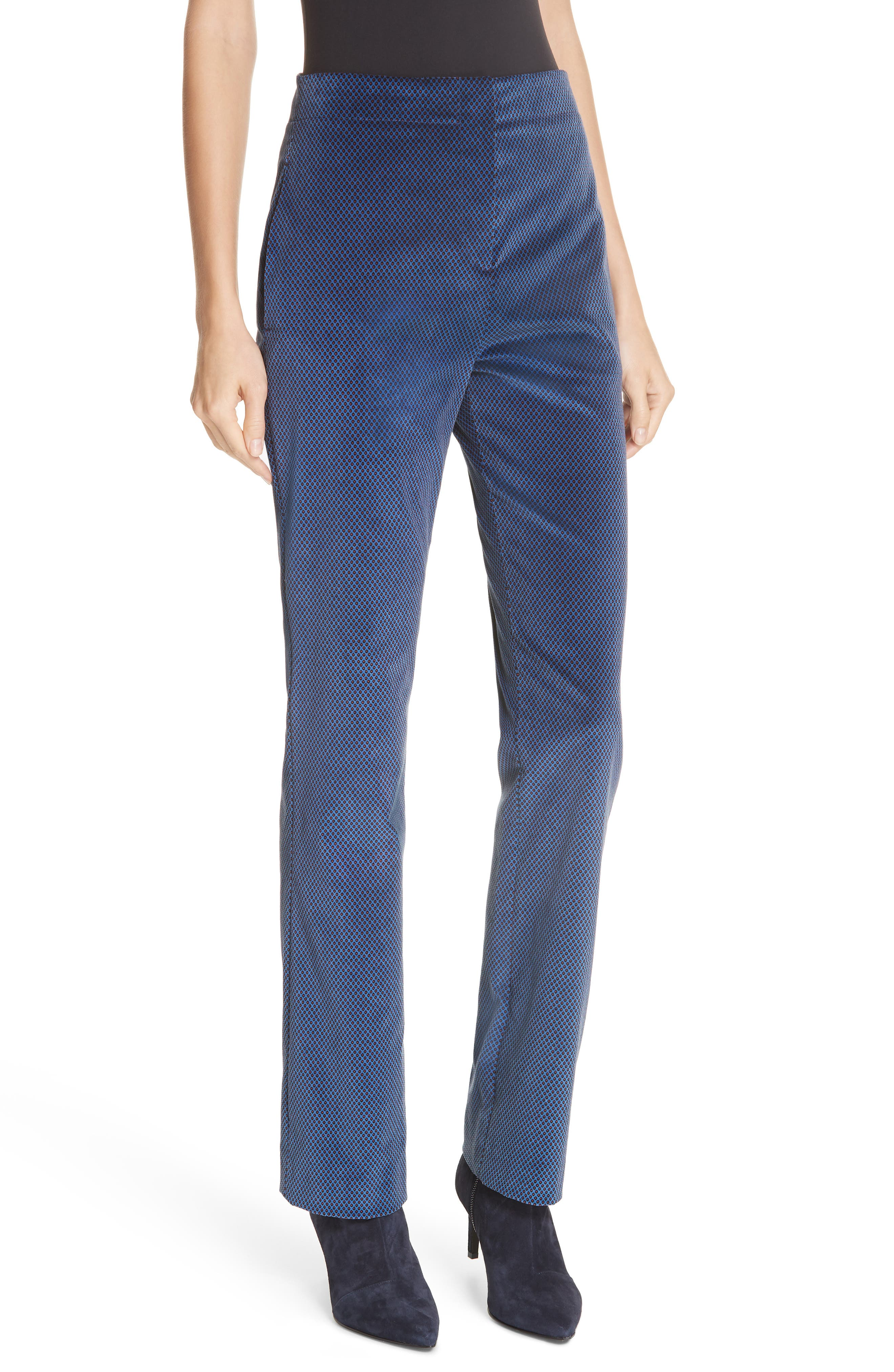Margaret Foulard Pants, Main, color, BLUE MULTI