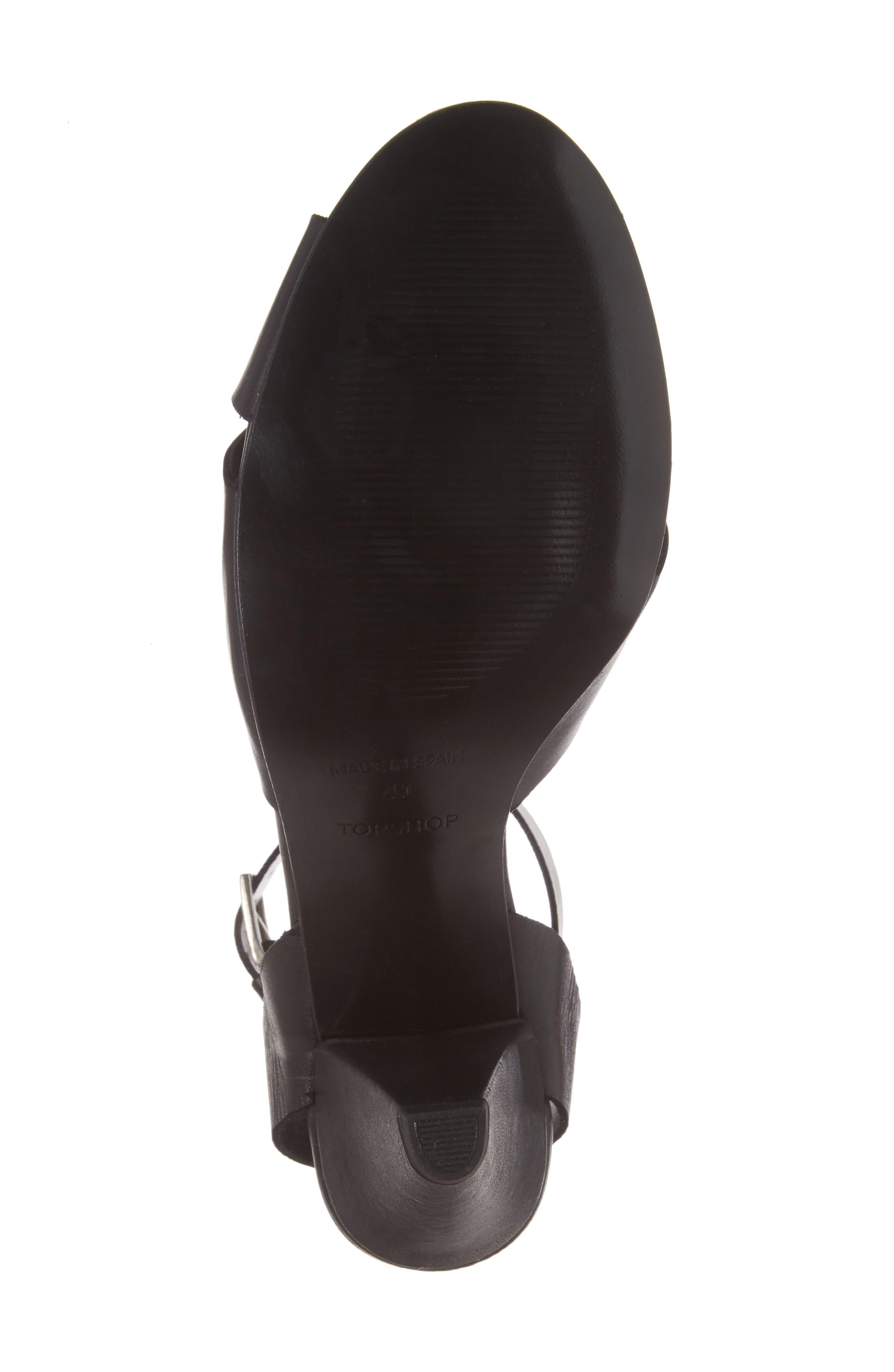 Nazia Statement Heel Sandal,                             Alternate thumbnail 6, color,                             001