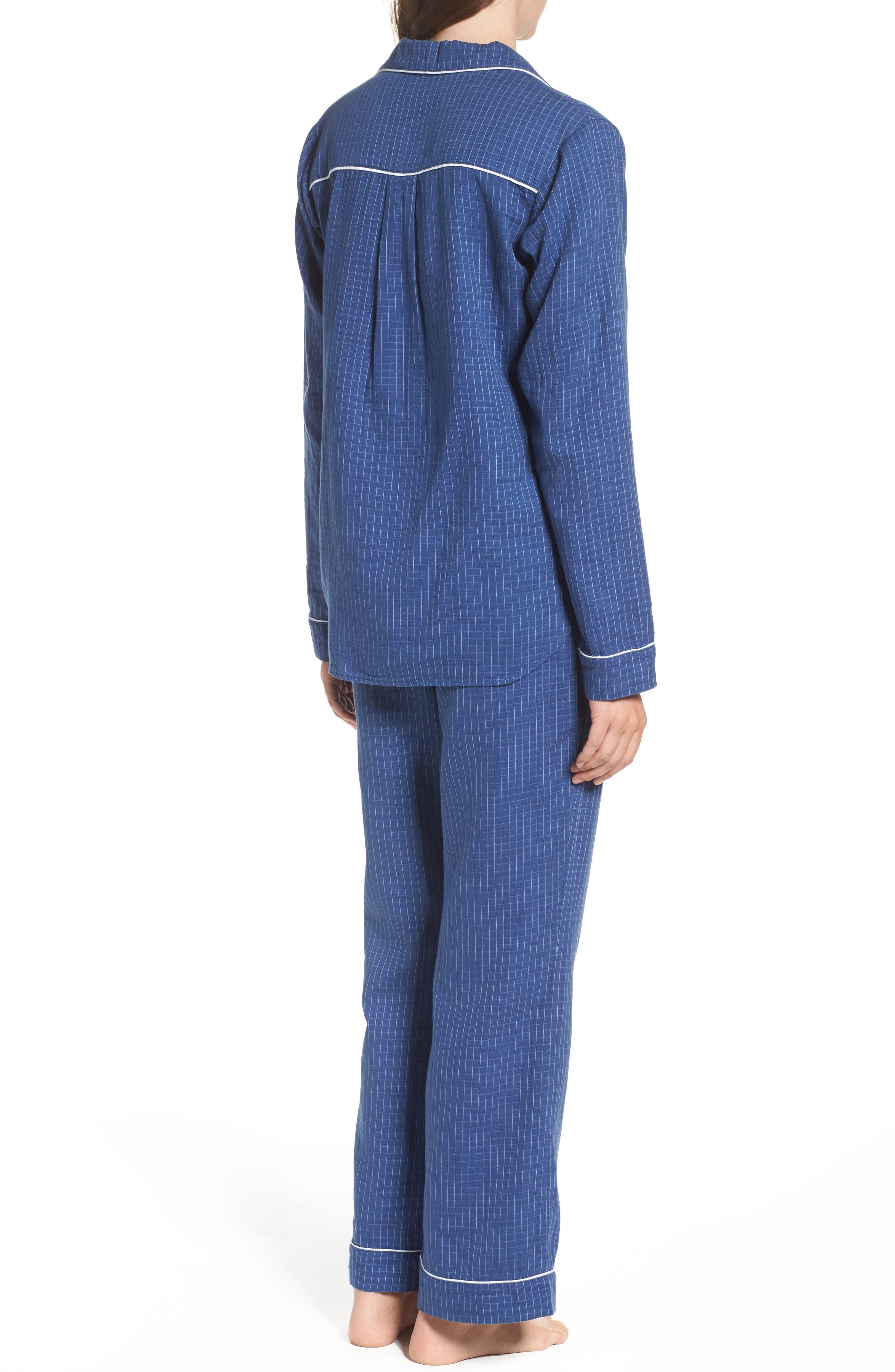 Raven Check Pajamas,                             Alternate thumbnail 2, color,                             400