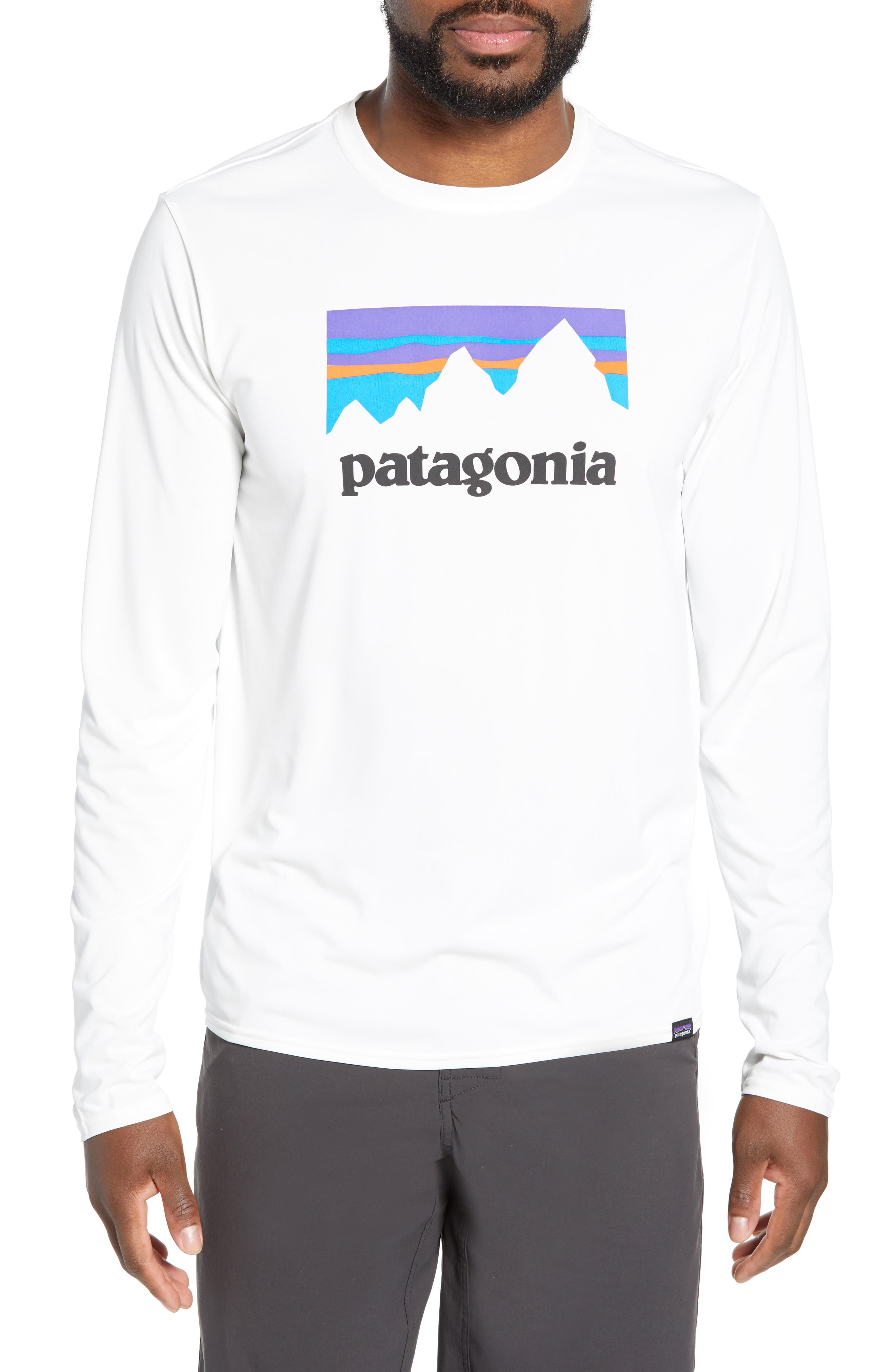 Patagonia Capilene Cool Daily Long Sleeve T-Shirt, White