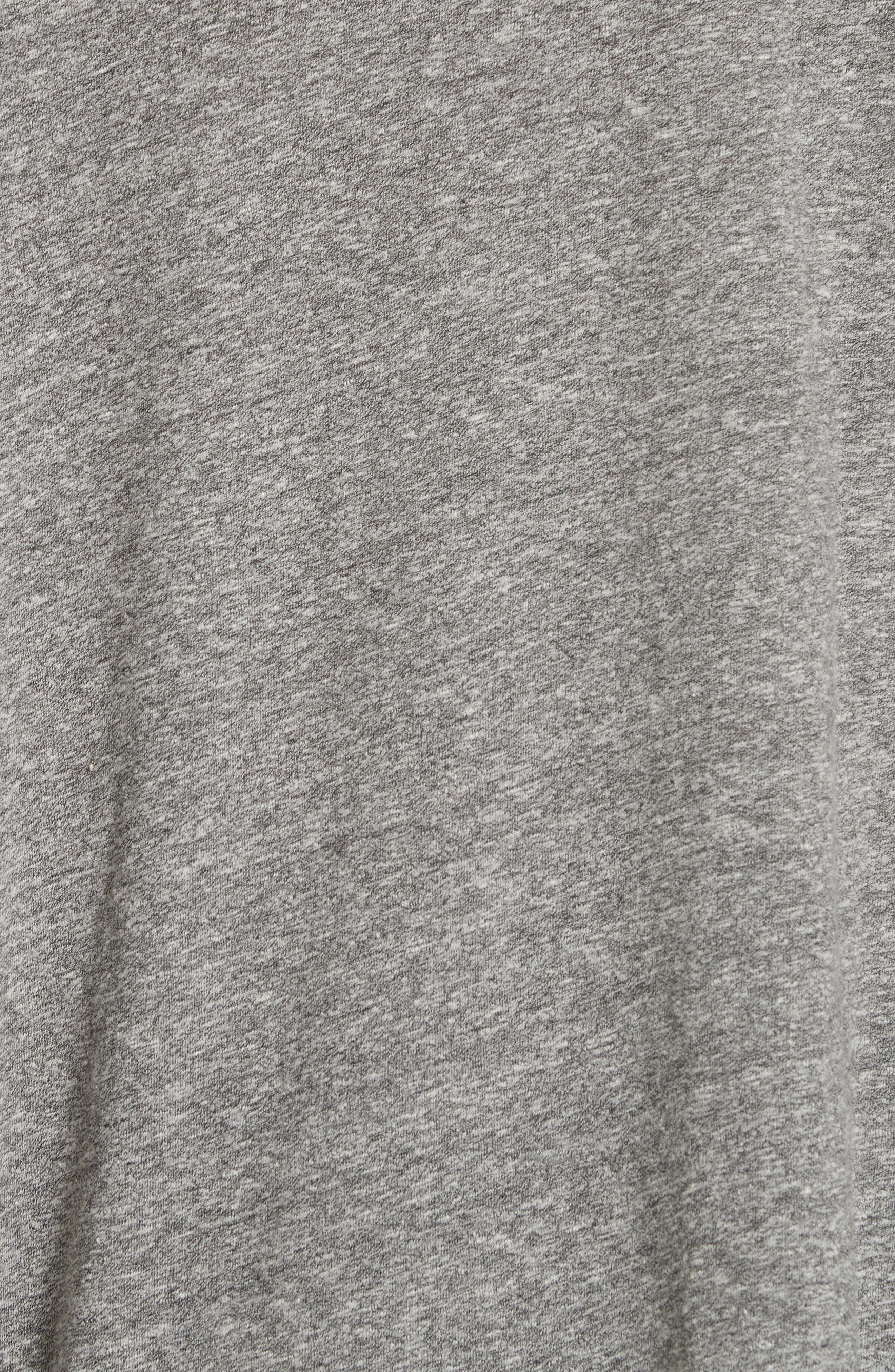 The Curve Tee,                             Alternate thumbnail 5, color,                             HEATHER GREY