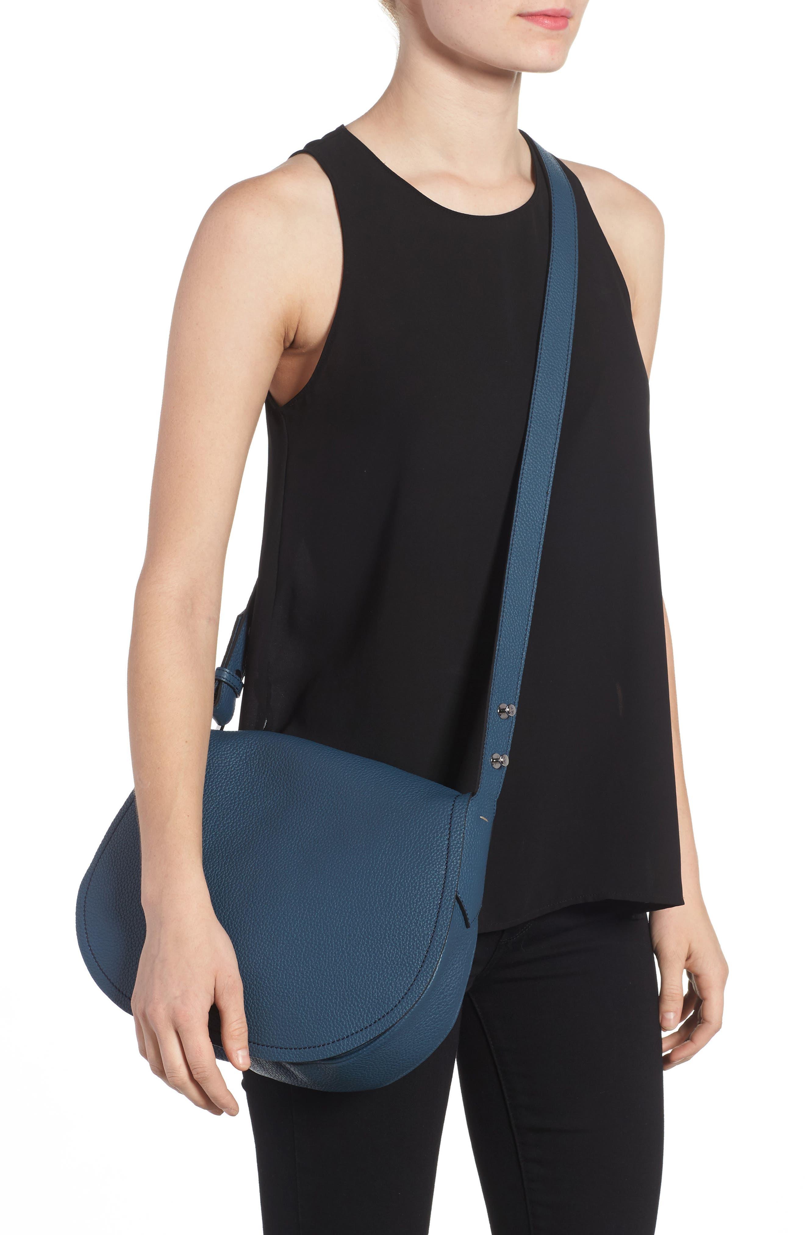Small Valeria Leather Crossbody Bag,                             Alternate thumbnail 6, color,