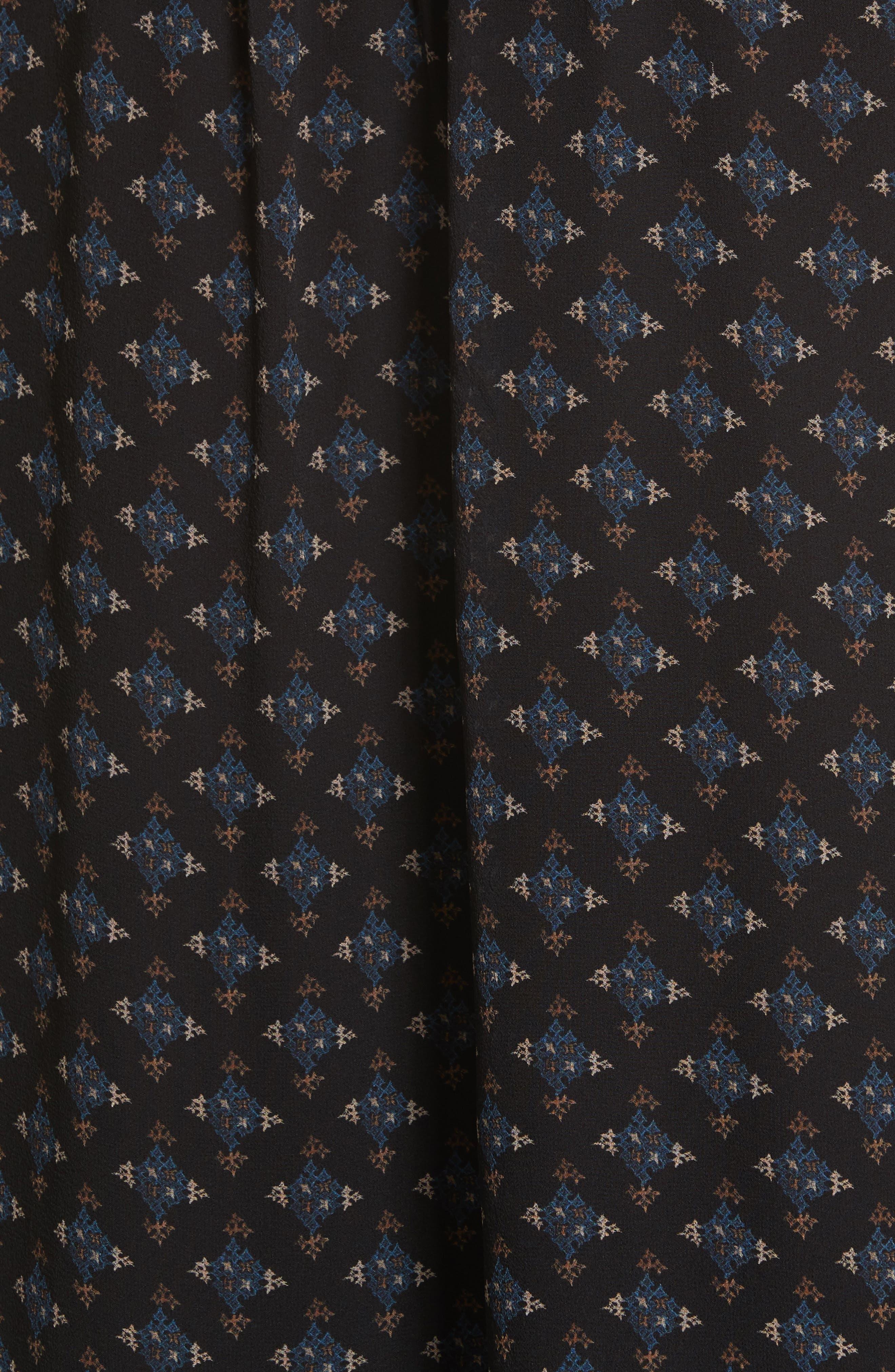 Sheyla Print Silk Shift Dress,                             Alternate thumbnail 5, color,                             004