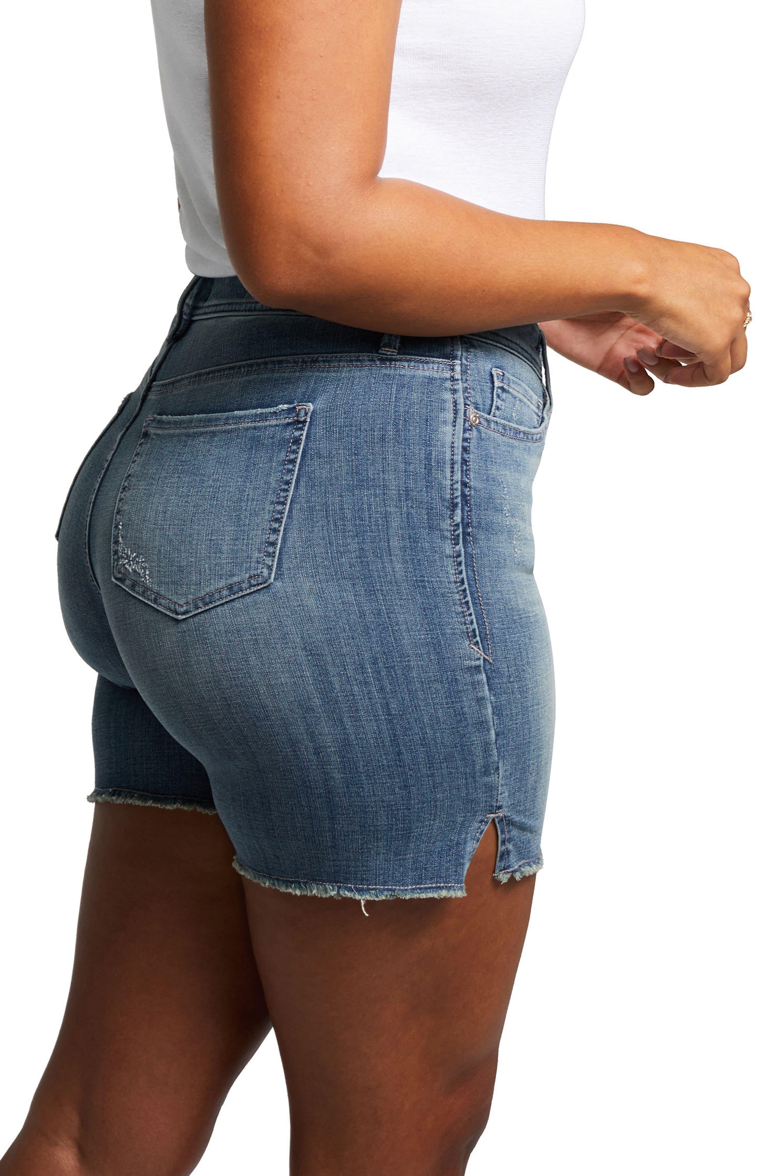 Shape Slim Straight Shorts,                             Alternate thumbnail 6, color,