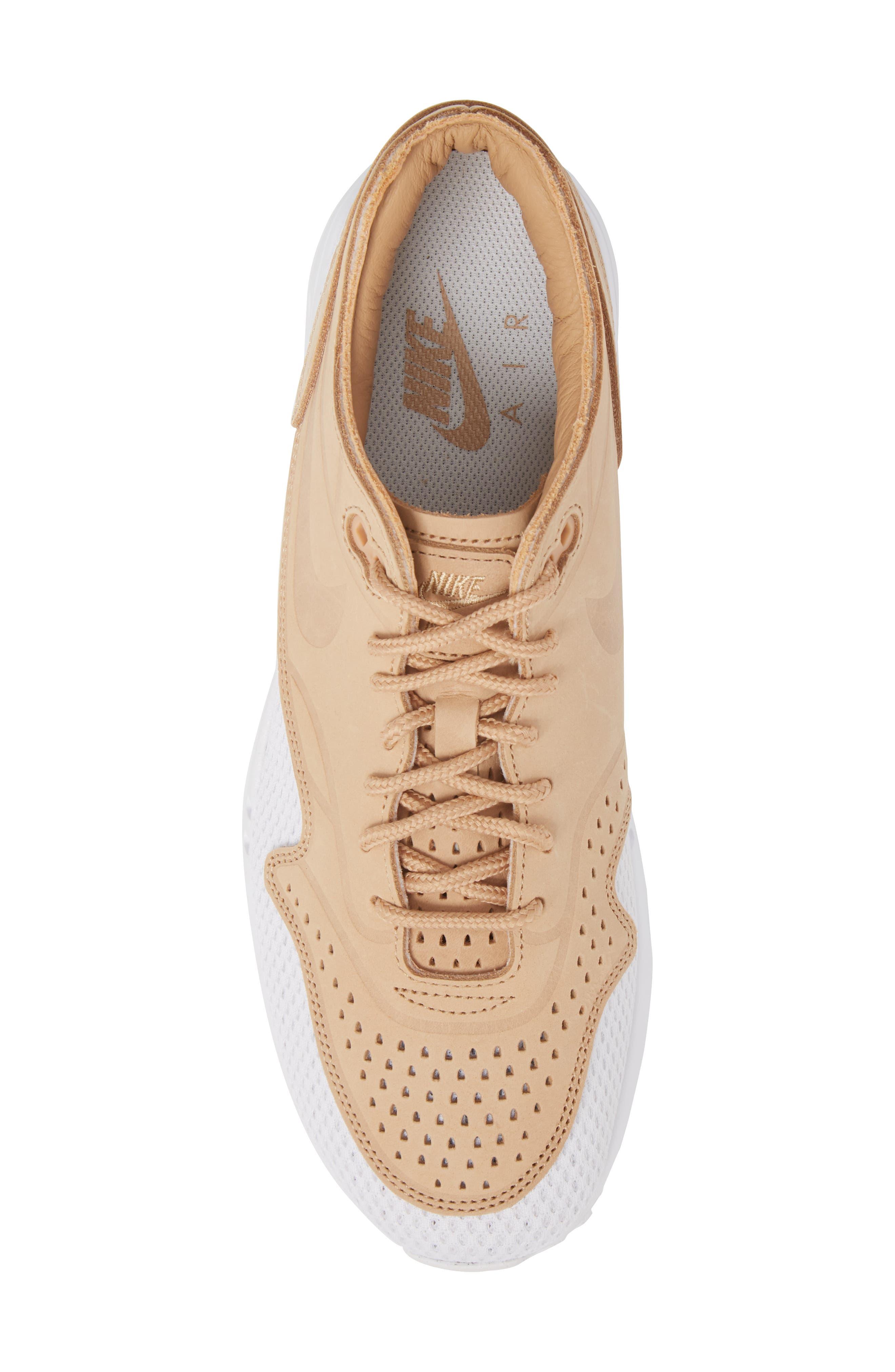 Air Max 1 Ultra 2.0 Premium Sneaker,                             Alternate thumbnail 5, color,                             VACHETTA TAN/ WHITE