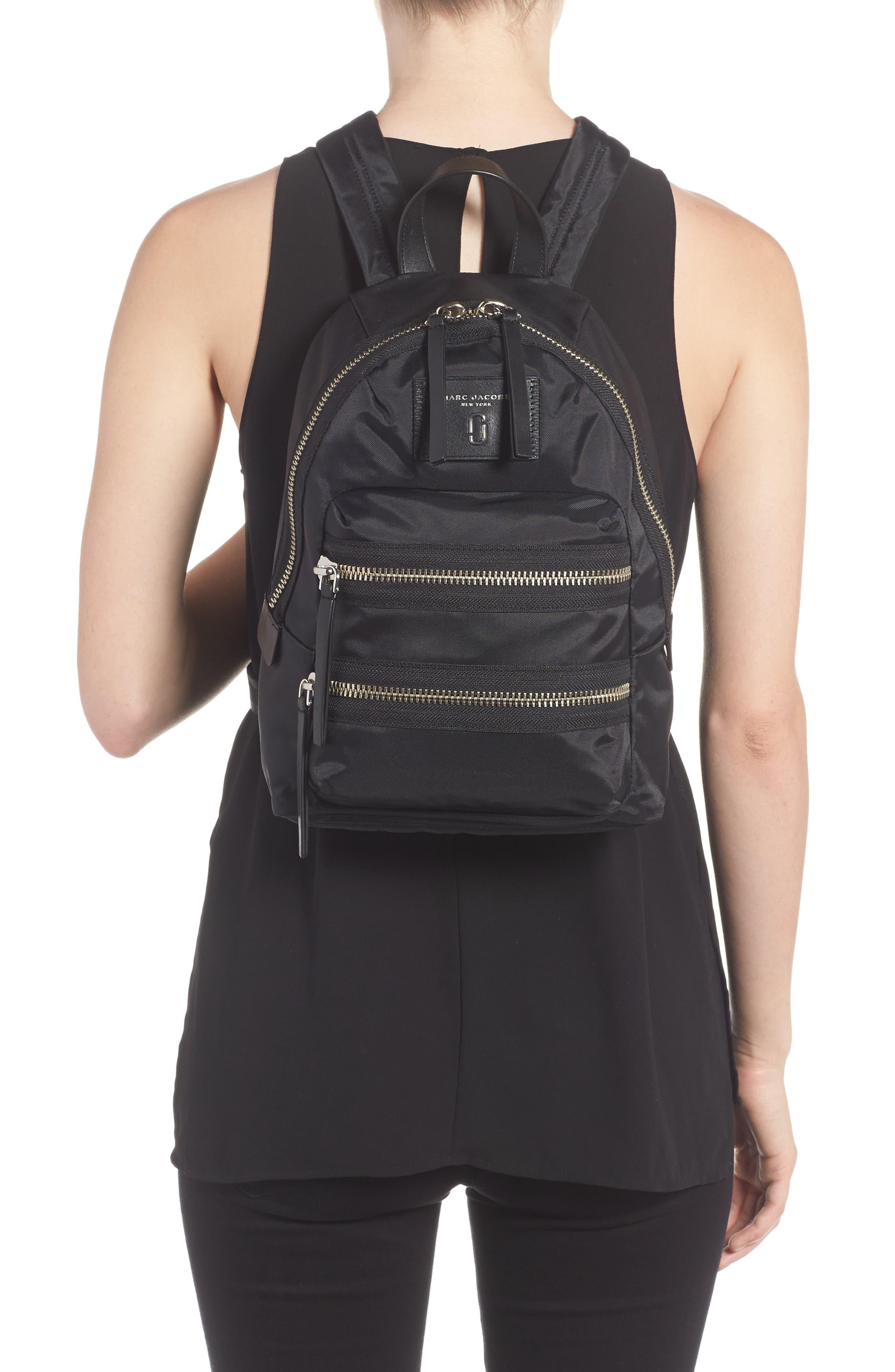 Mini Biker Nylon Backpack,                             Alternate thumbnail 2, color,                             BLACK