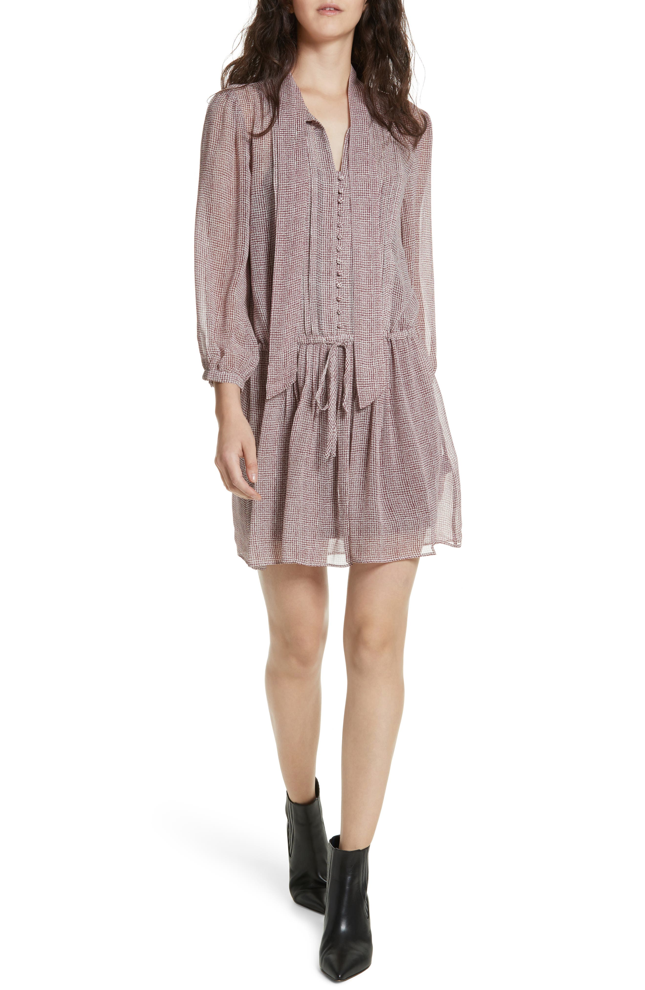 Xyla Silk Dress,                             Main thumbnail 1, color,                             641