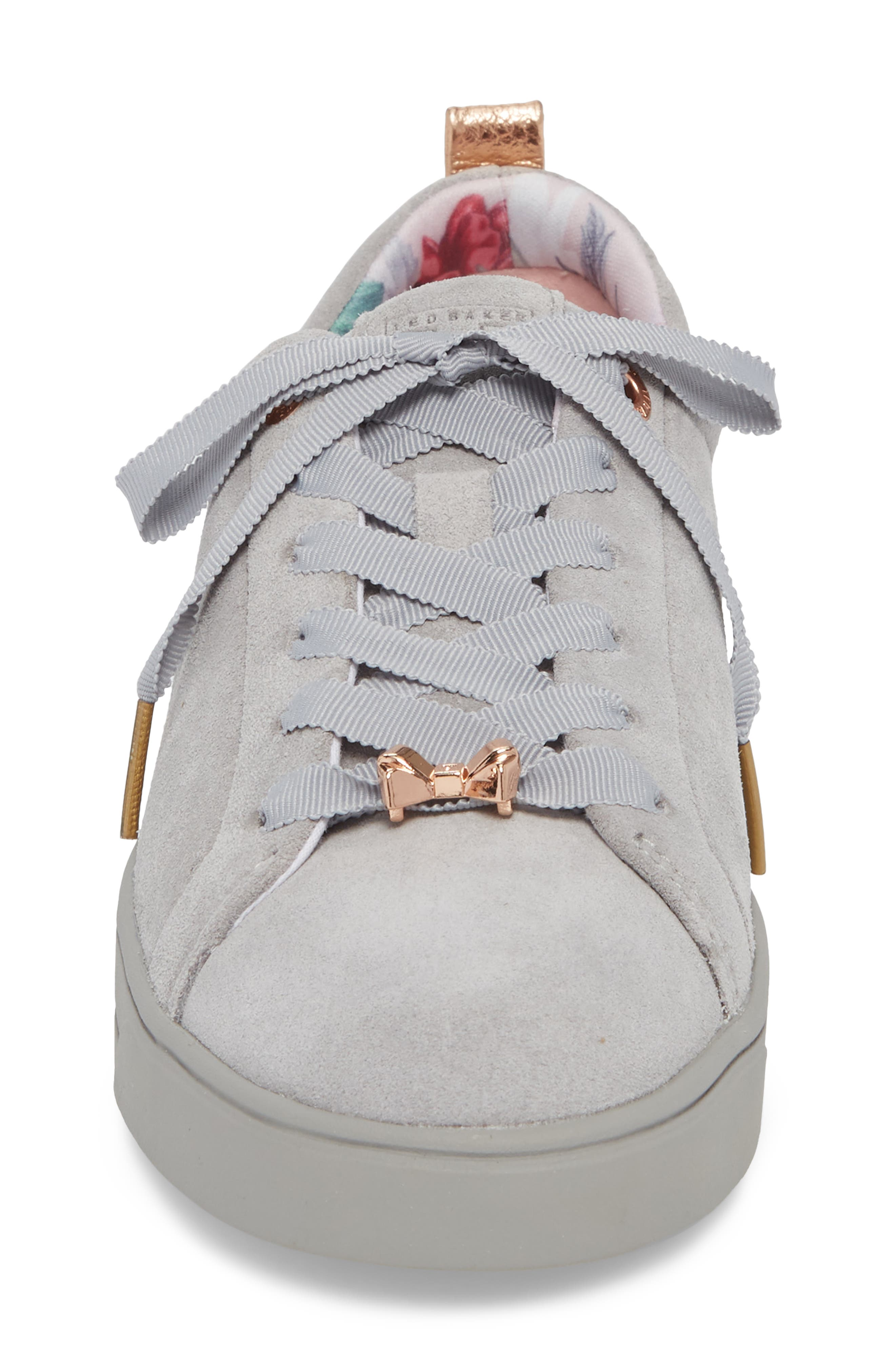 Kelleis Sneaker,                             Alternate thumbnail 4, color,                             LIGHT GREY SUEDE