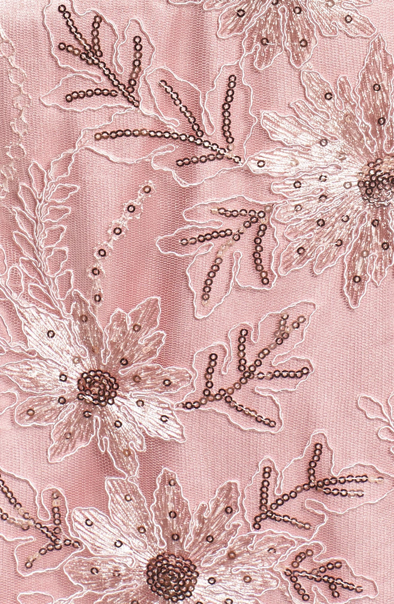 Embellished Gown,                             Alternate thumbnail 5, color,                             PALE PINK