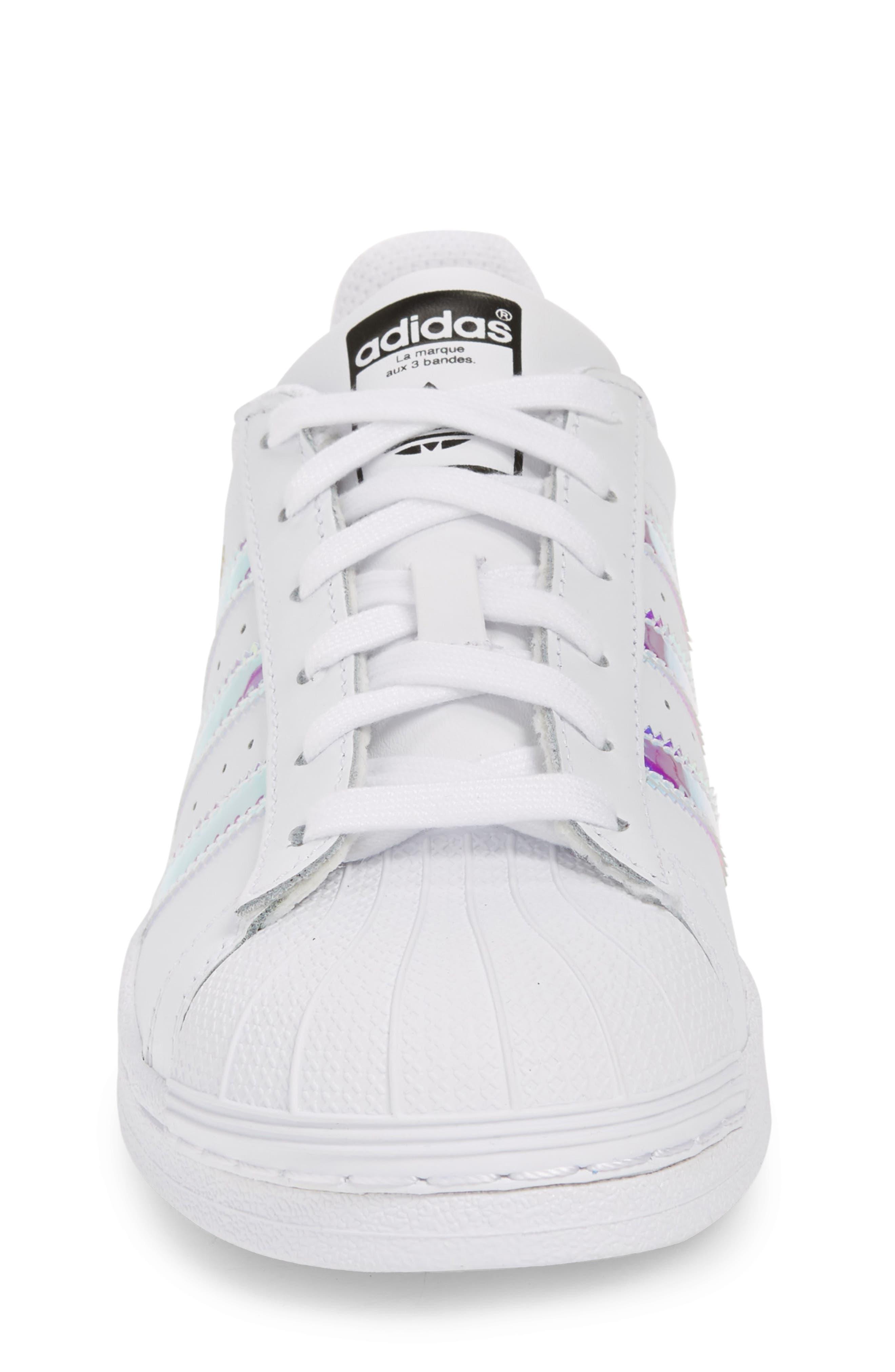Superstar - Iridescent Sneaker,                             Alternate thumbnail 5, color,                             SILVER METALLIC/ WHITE