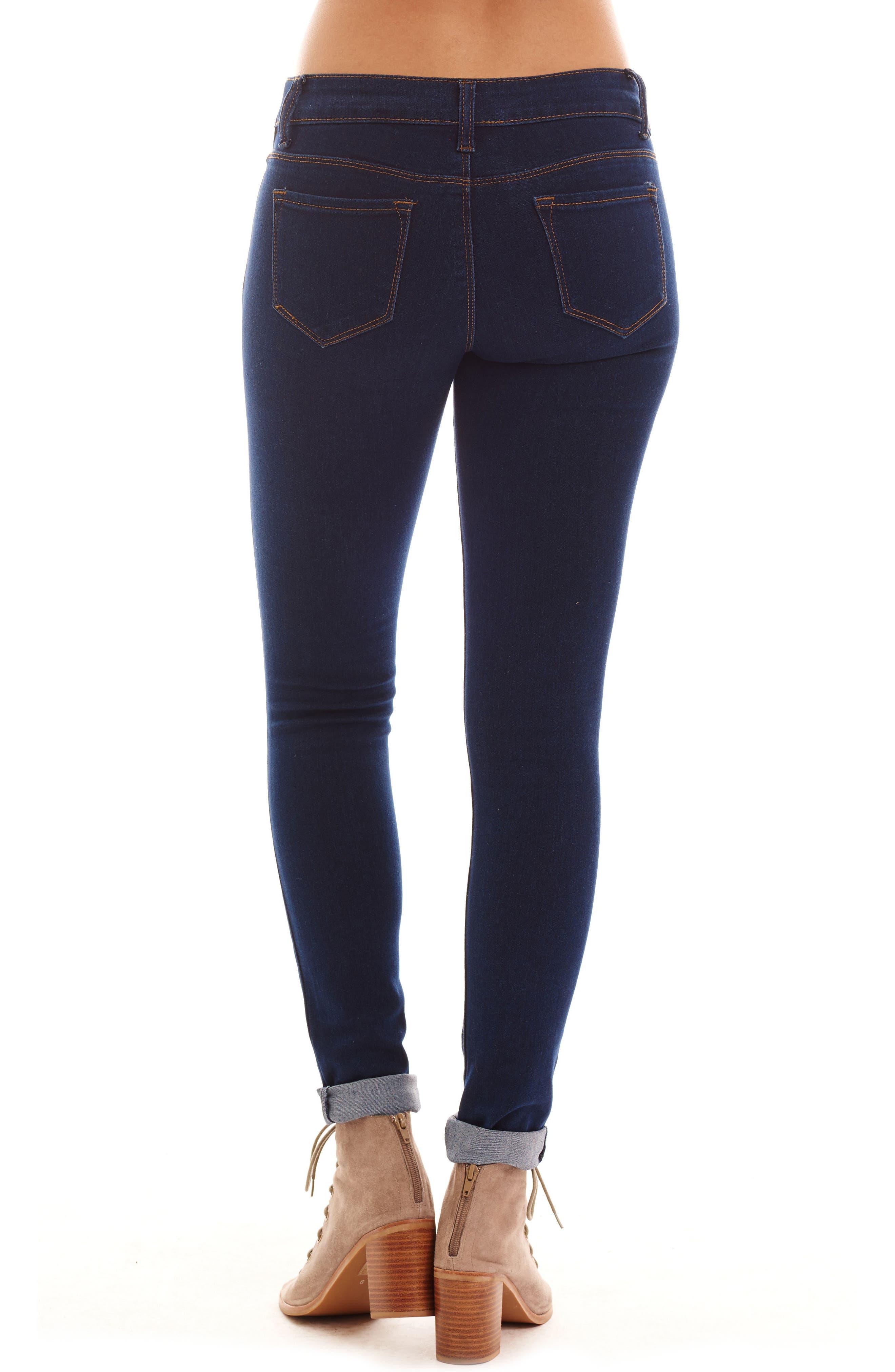 Aria Maternity Skinny Jeans,                             Alternate thumbnail 2, color,                             DARK WASH