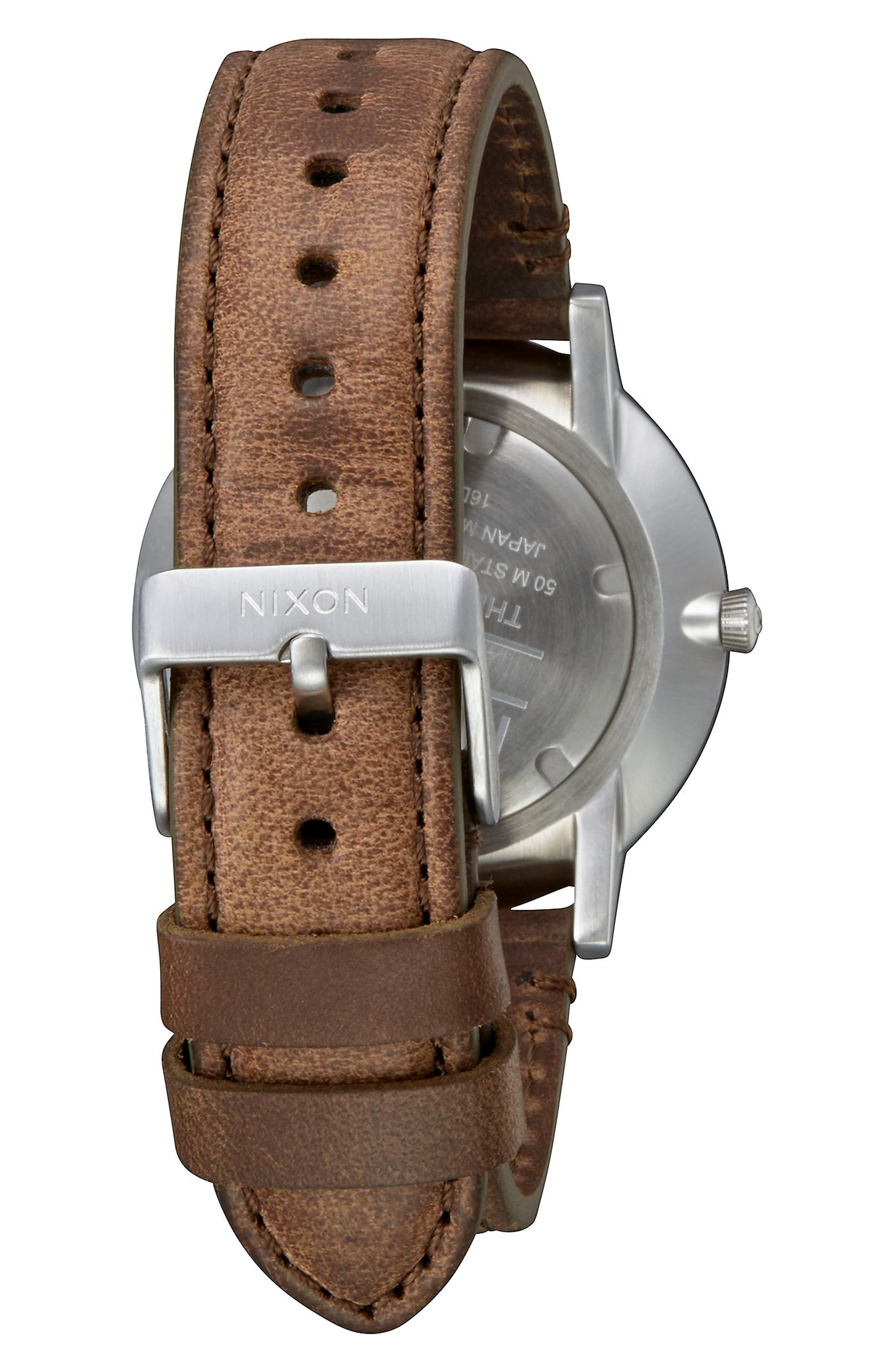 Porter Round Leather Strap Watch, 40mm,                             Alternate thumbnail 19, color,
