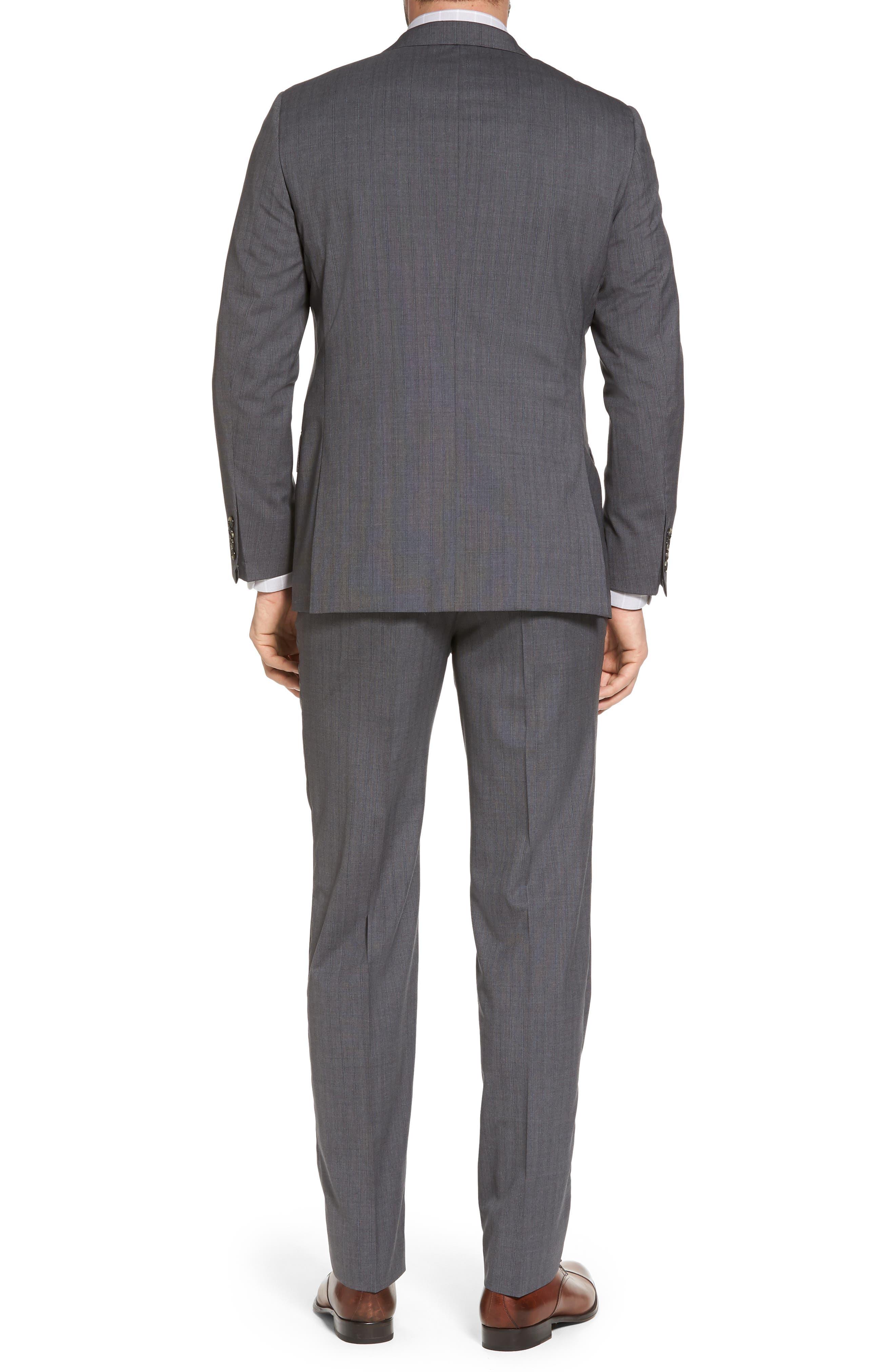 Classic B Fit Stripe Wool Suit,                             Alternate thumbnail 2, color,