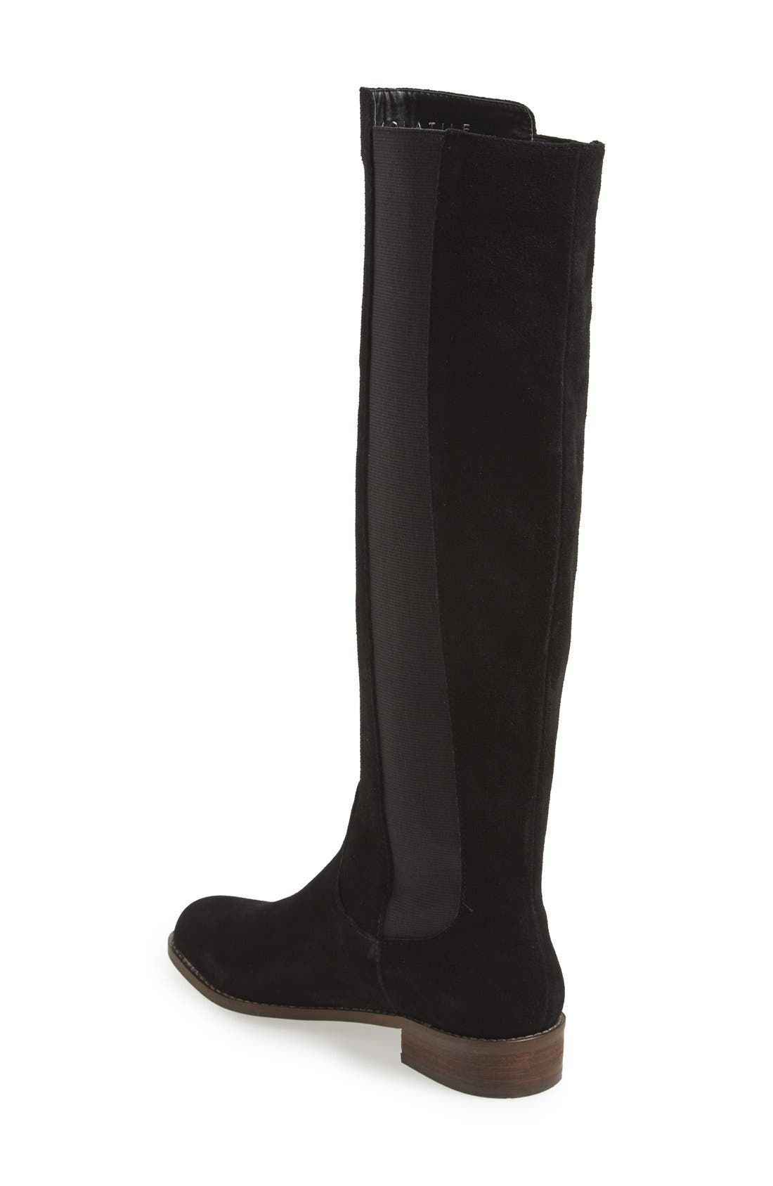 'Timber' Suede Knee High Boot,                             Alternate thumbnail 4, color,                             001