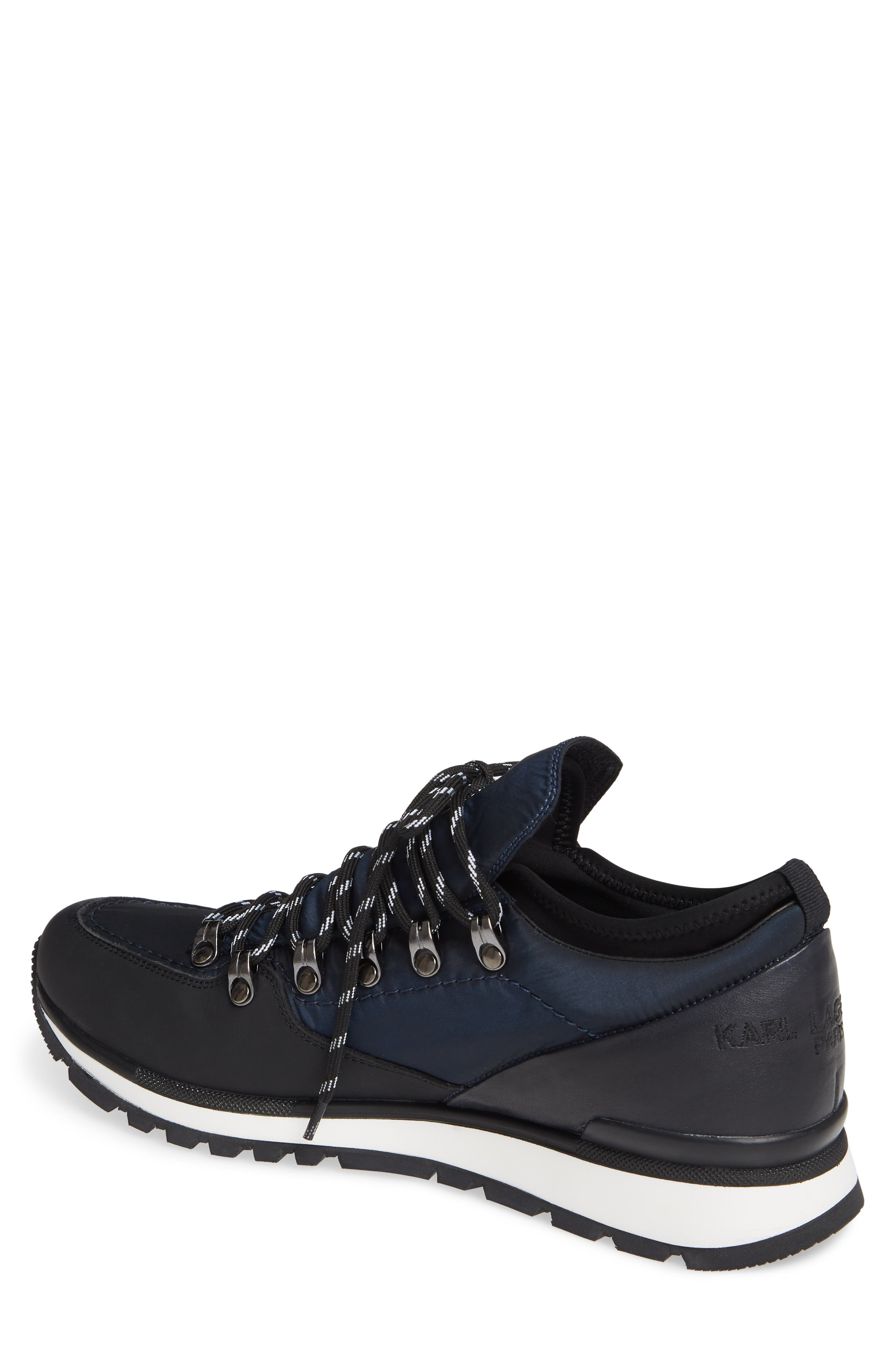 Low Top Hiker Sneaker,                             Alternate thumbnail 2, color,                             NAVY