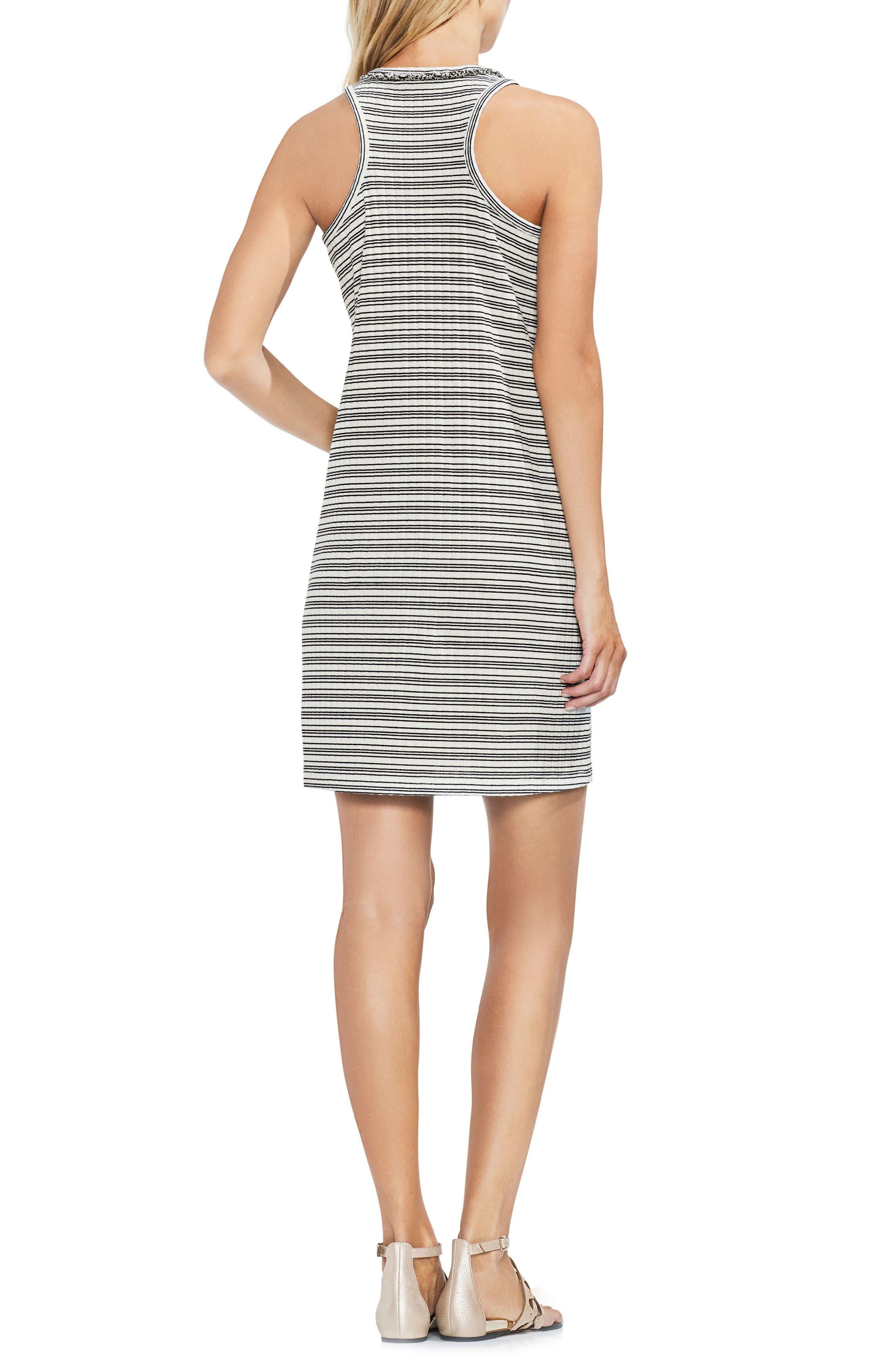 VINCE CAMUTO,                             Ribbed Stripe Tank Dress,                             Alternate thumbnail 2, color,                             103