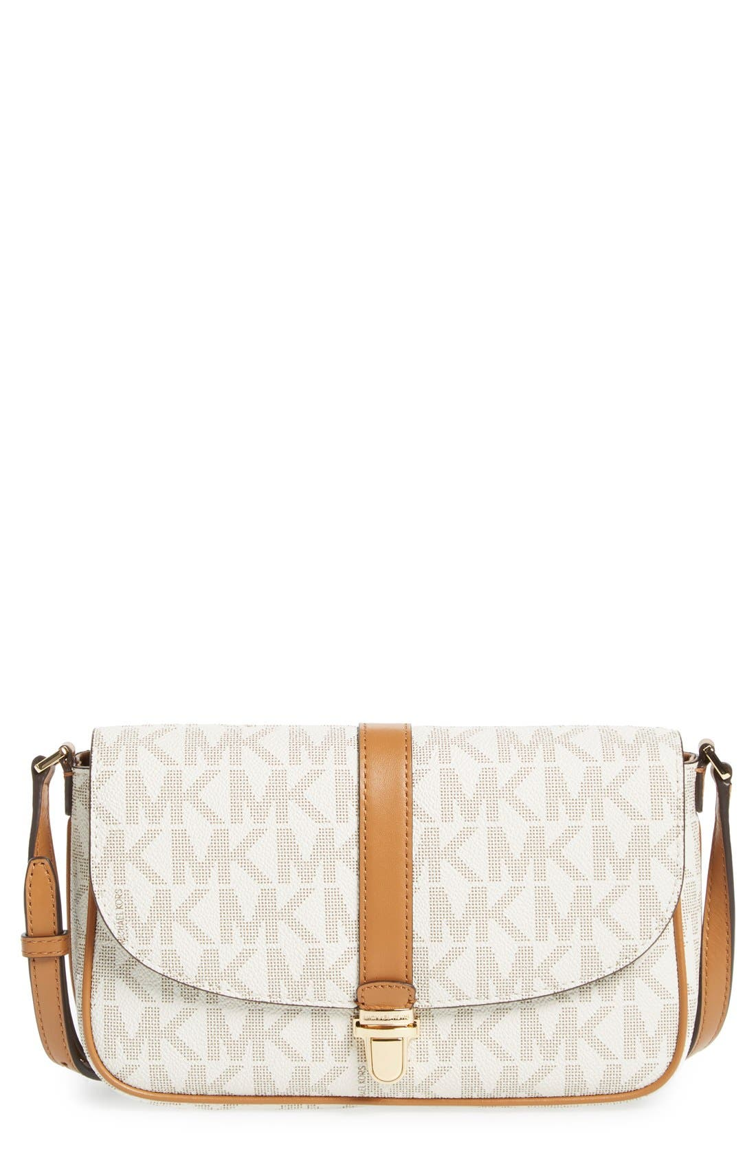MICHAEL MICHAEL KORS 'Large Charlton' Crossbody Bag, Main, color, 100