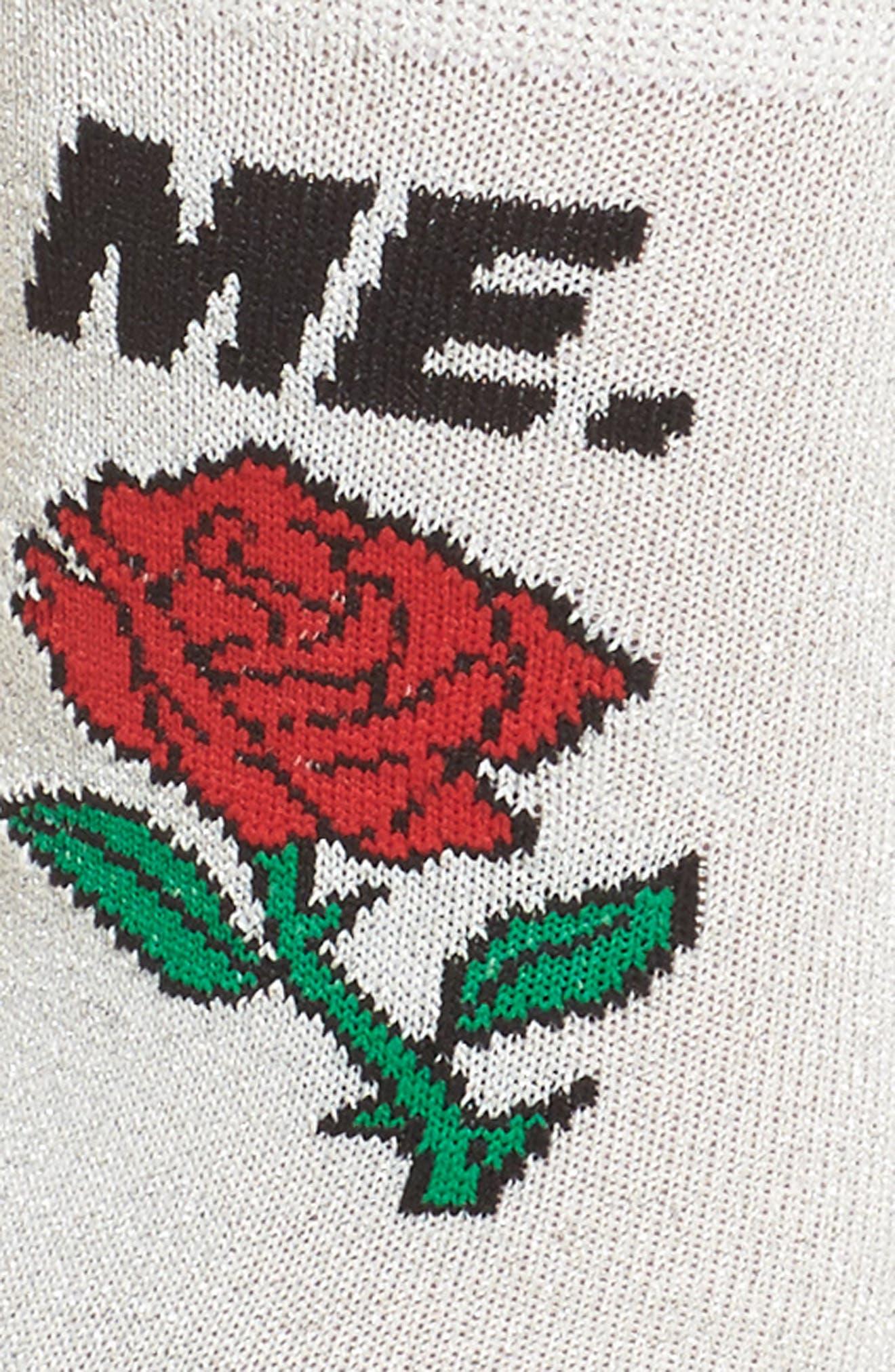 ME Rose Glitter Socks,                             Alternate thumbnail 2, color,                             040