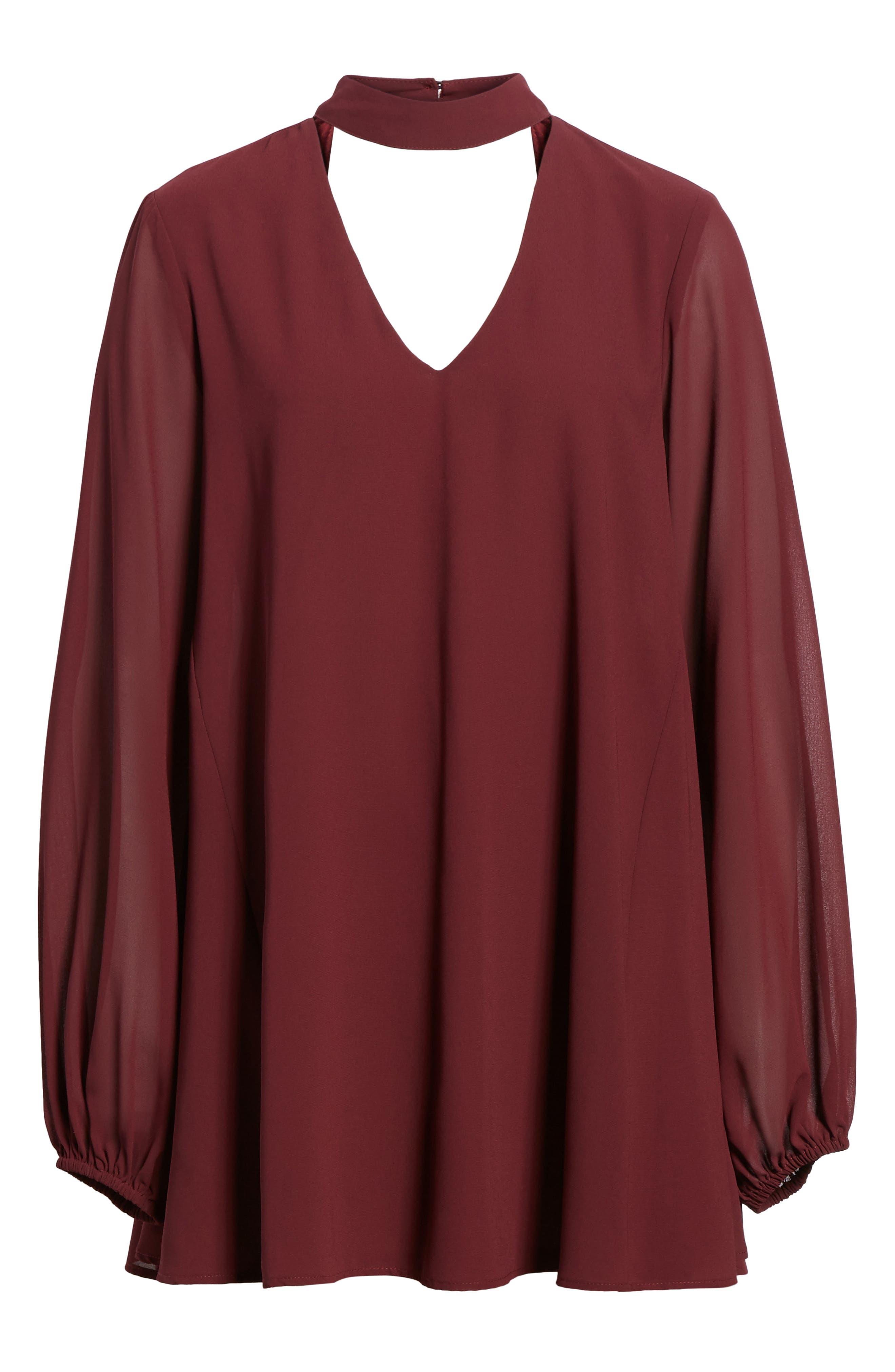 Josephine Choker Dress,                             Alternate thumbnail 6, color,                             930