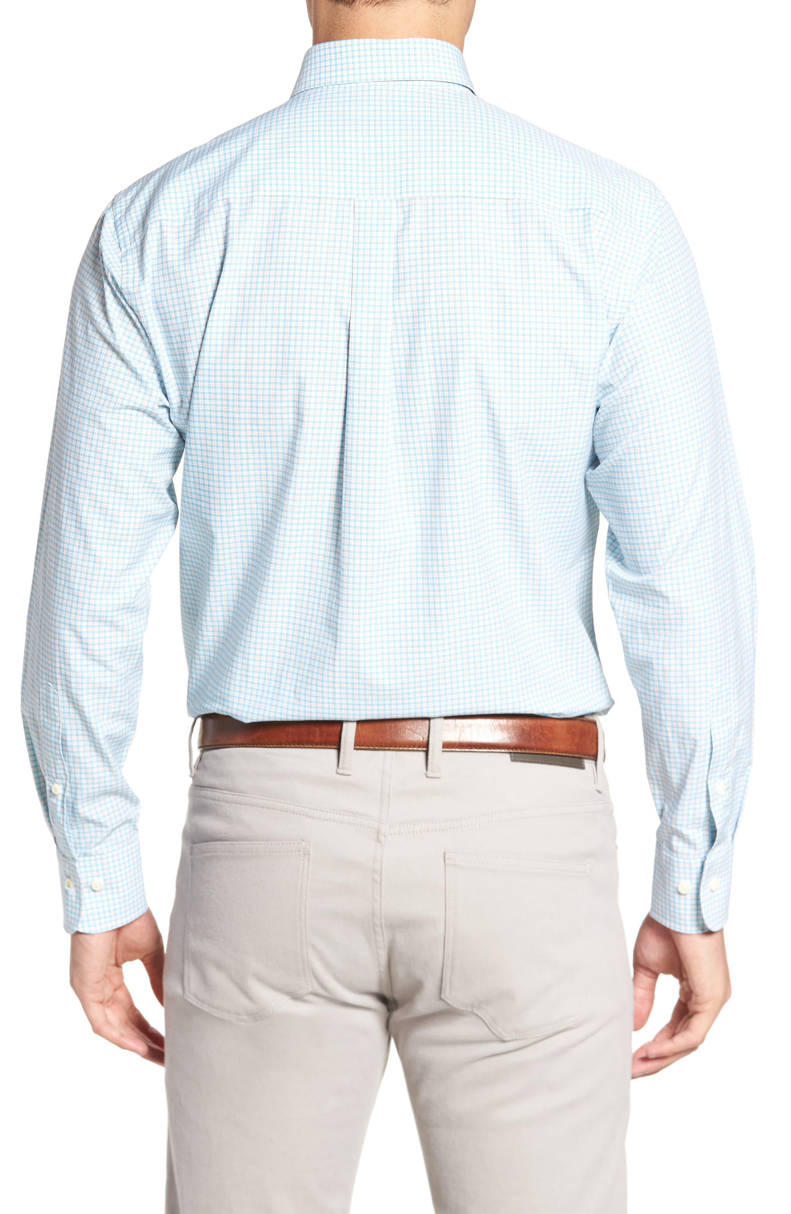 Crown Finish Regular Fit Check Sport Shirt,                             Alternate thumbnail 3, color,