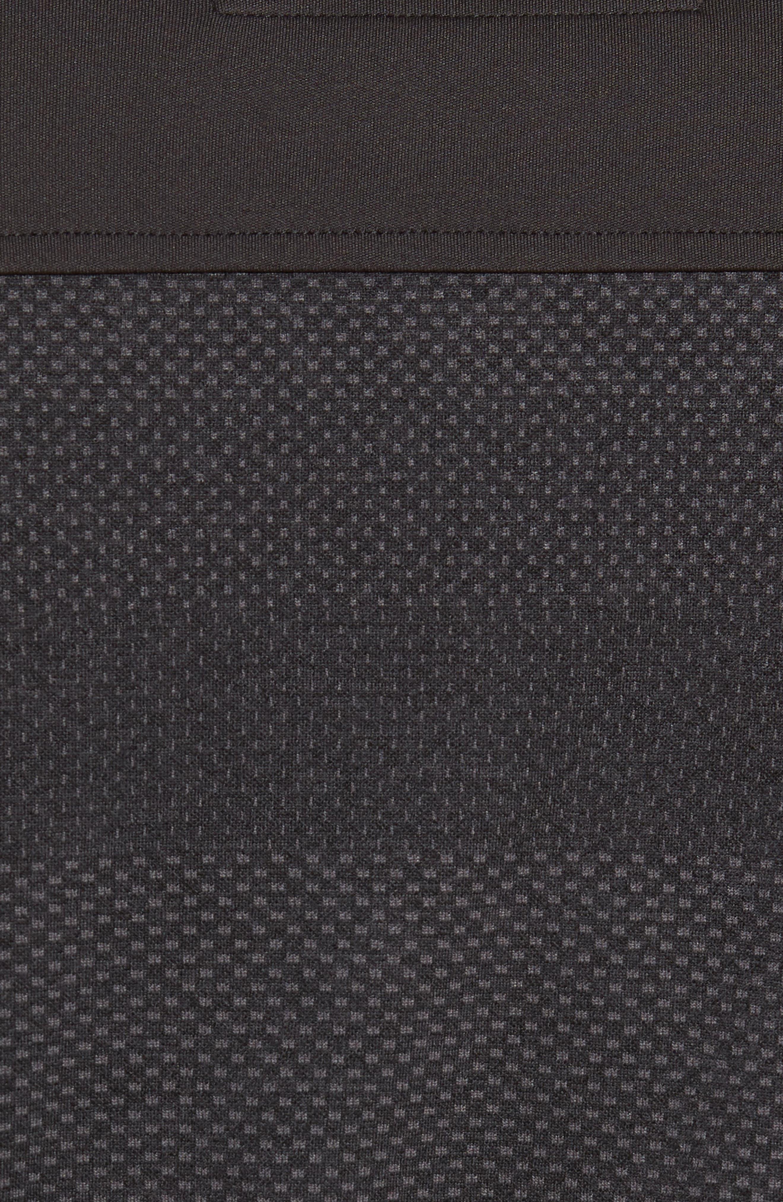 Crescent Striped Polo,                             Alternate thumbnail 5, color,                             BLACK