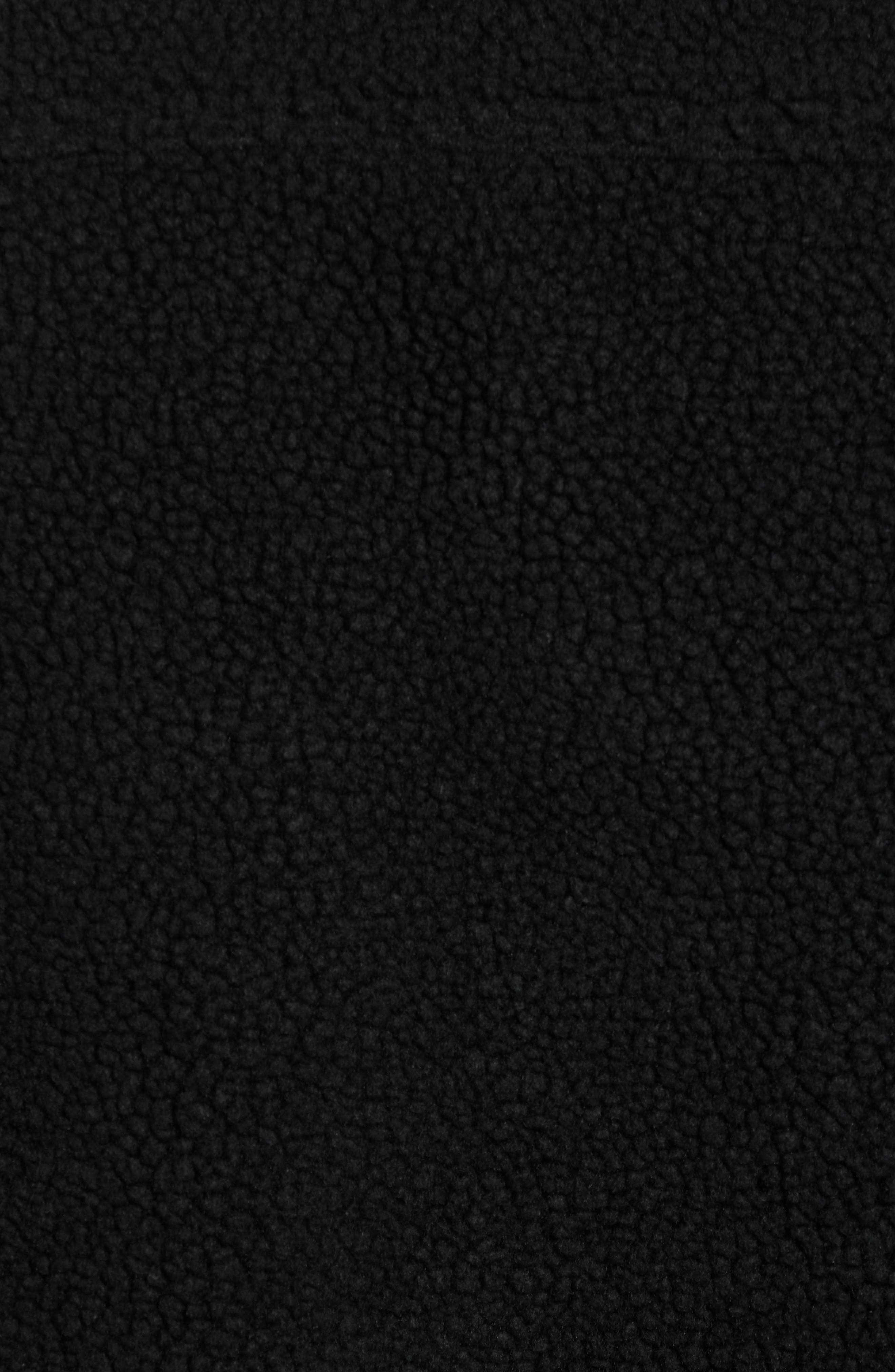 Fleece Trucker Jacket,                             Alternate thumbnail 7, color,                             BLACK