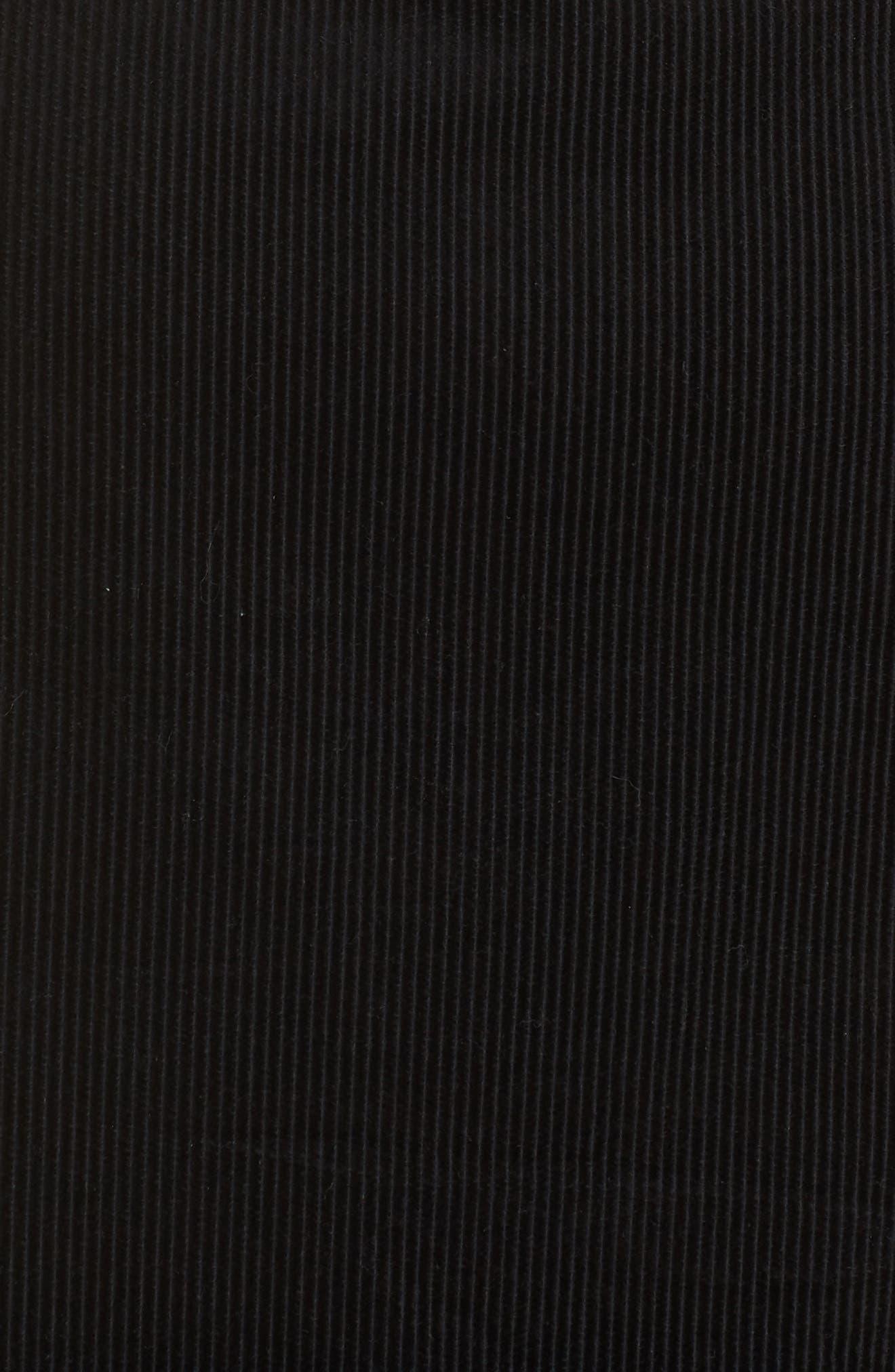 Corduroy Pinafore Dress,                             Alternate thumbnail 6, color,                             BLACK