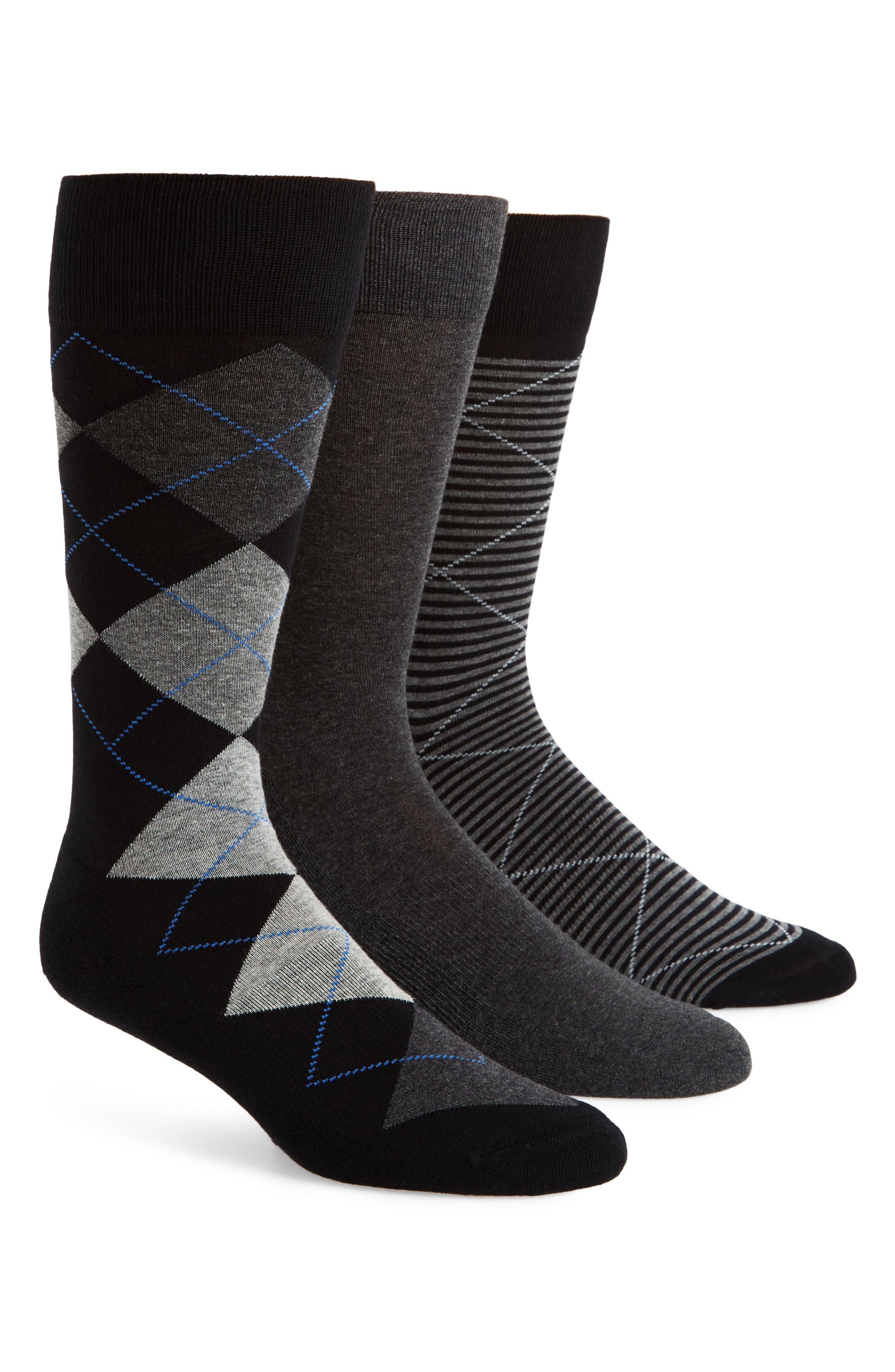 3-Pack Cotton Blend Socks,                             Main thumbnail 1, color,                             021