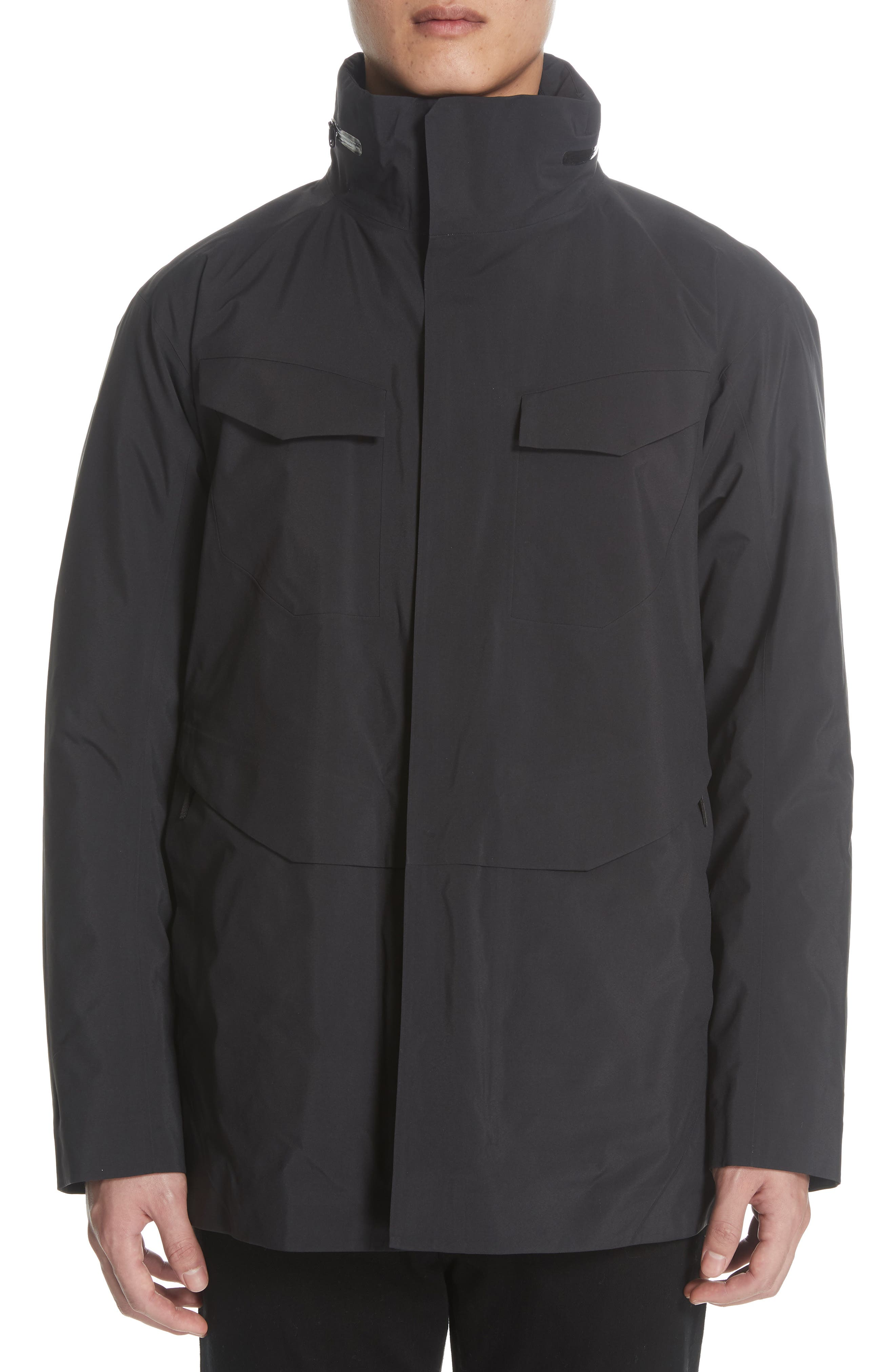 Gore-Tex<sup>®</sup> Pro Waterproof/Windproof Insulated Field Jacket,                             Alternate thumbnail 2, color,                             BLACK