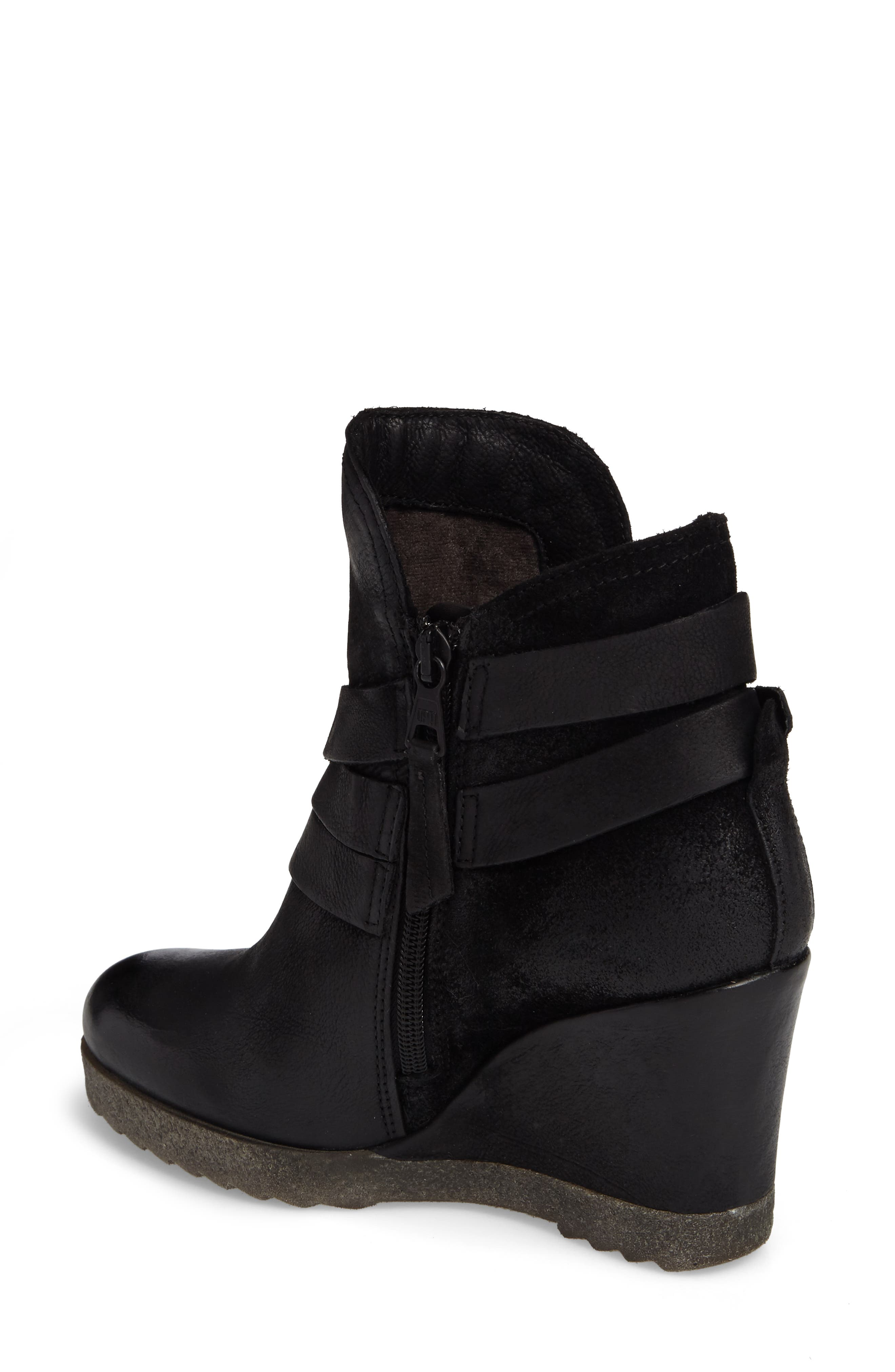 Narcissa Ankle Wrap Wedge Bootie,                             Alternate thumbnail 2, color,                             001