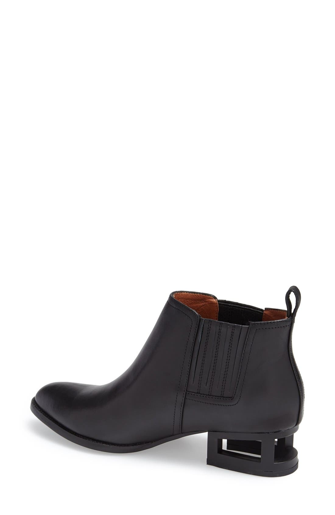'Metcalf' Caged Heel Bootie,                             Alternate thumbnail 2, color,                             001