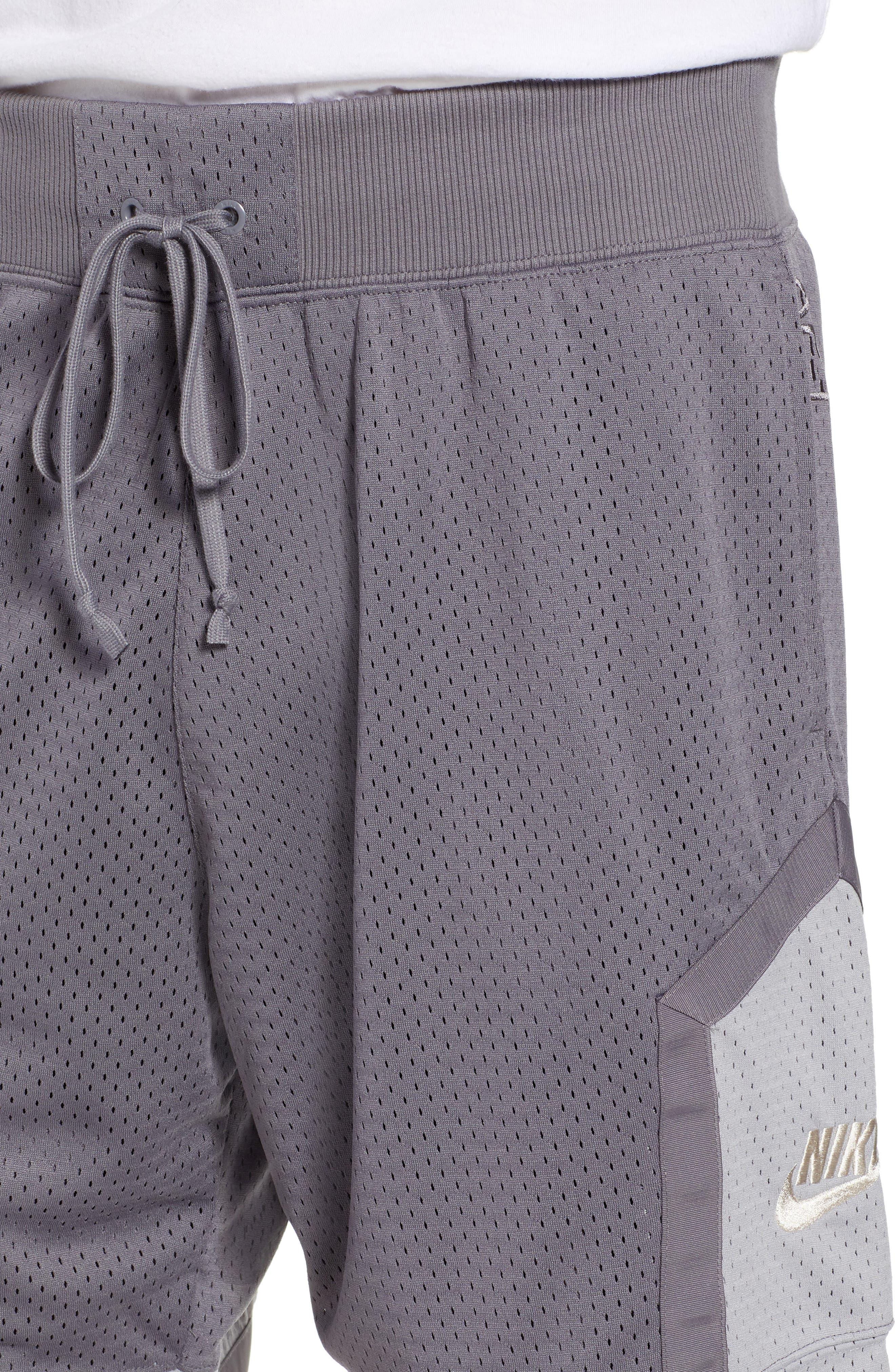 NSW AF1 Shorts,                             Alternate thumbnail 4, color,                             GUNSMOKE/ GREY/ OREWOOD