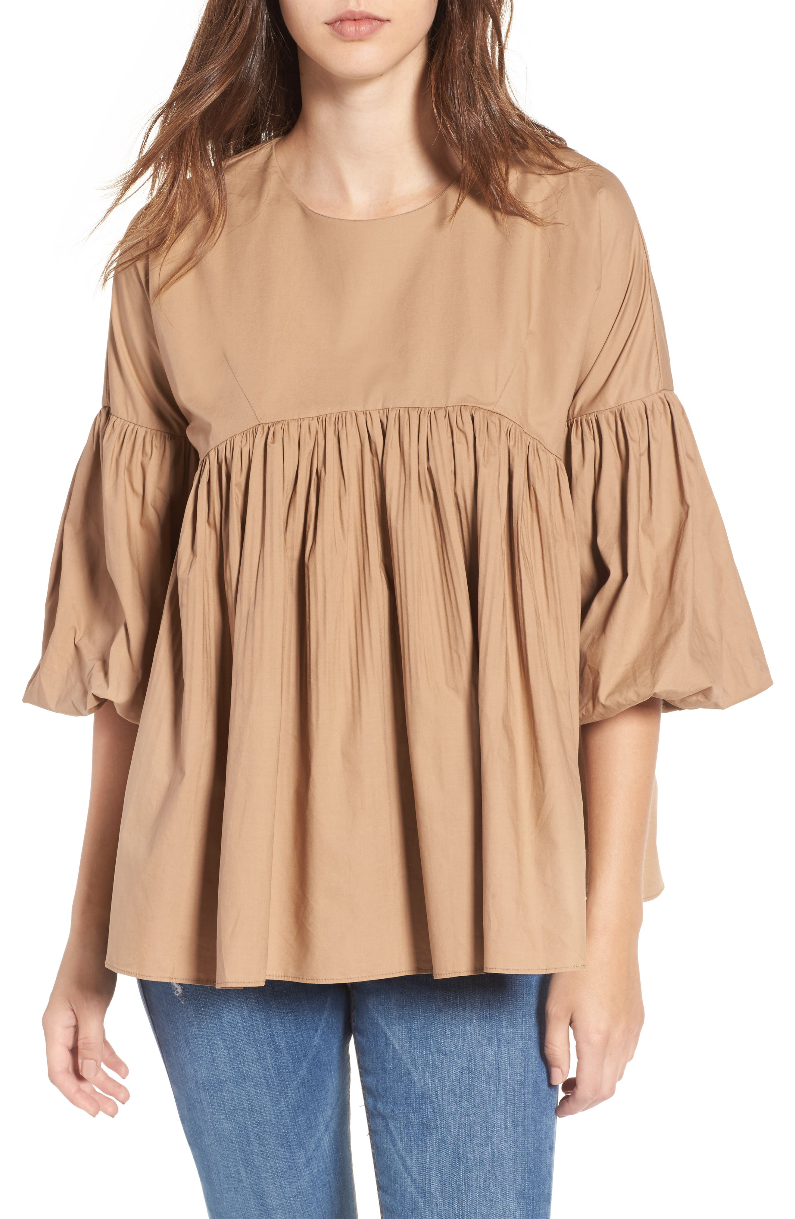 Pleated Swing Top,                             Main thumbnail 1, color,                             250