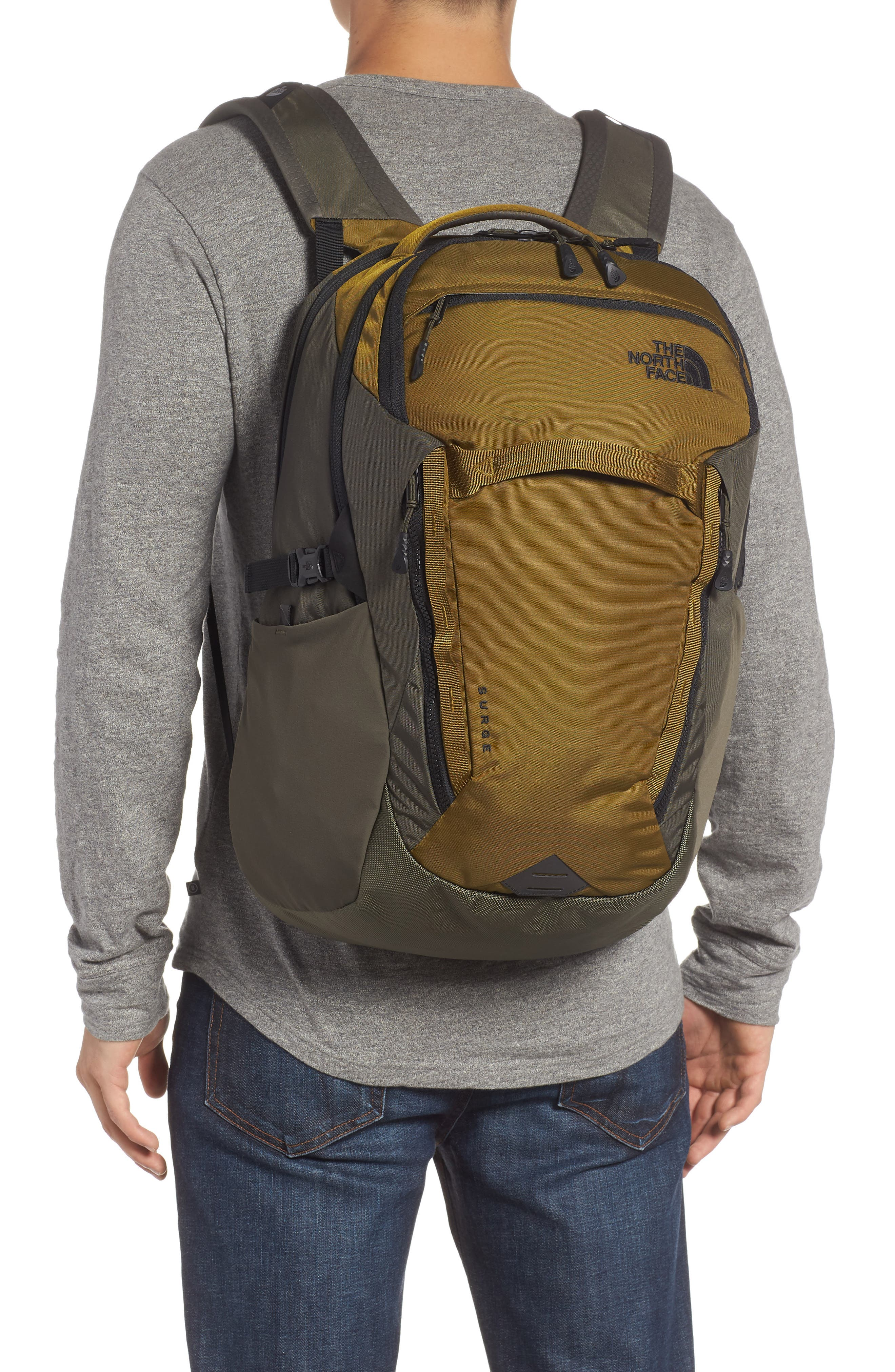 Surge Backpack,                             Alternate thumbnail 2, color,                             FIR GREEN/ NEW TAUPE GREEN