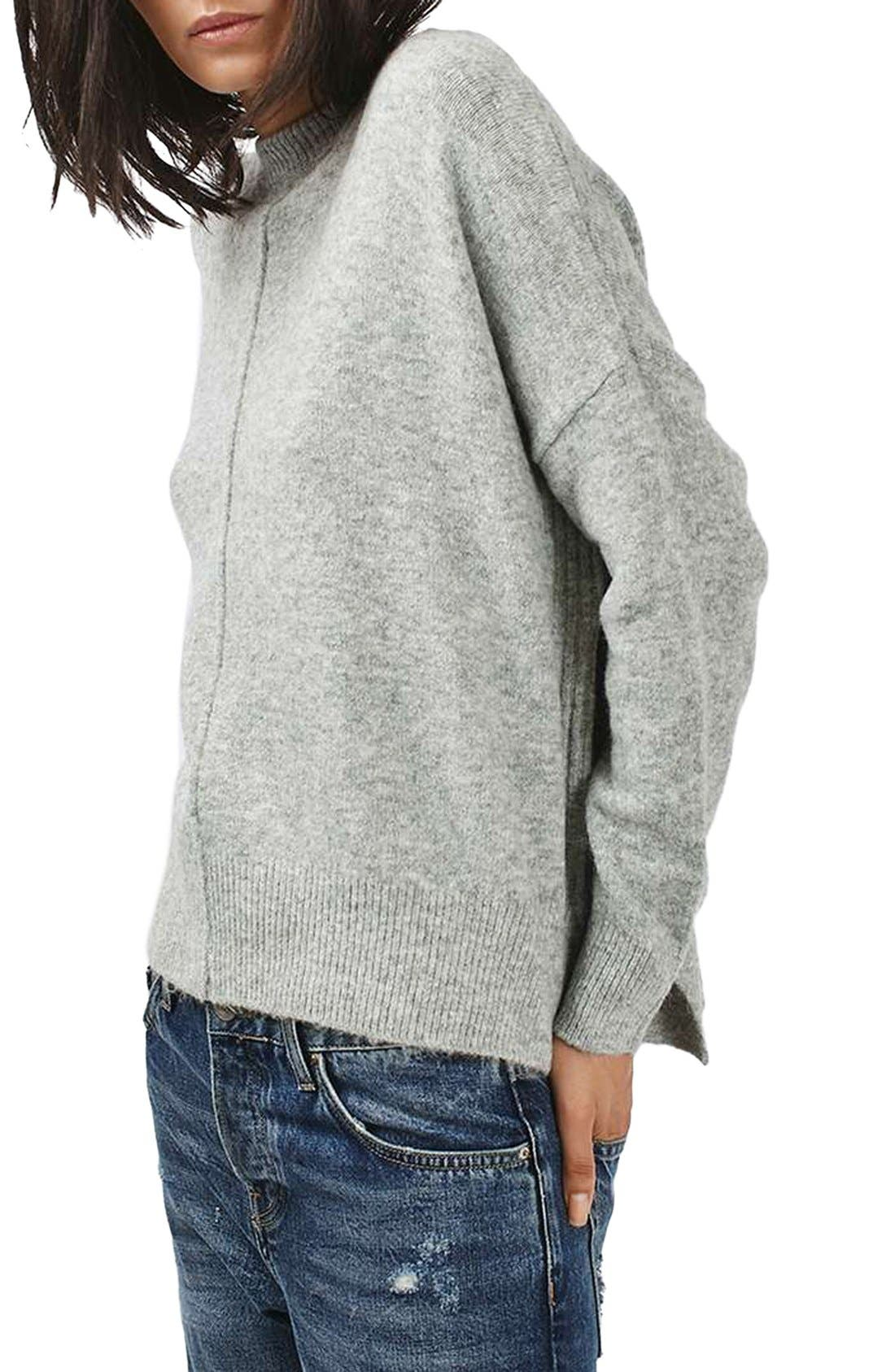 Zip Side Sweater,                             Main thumbnail 1, color,                             020