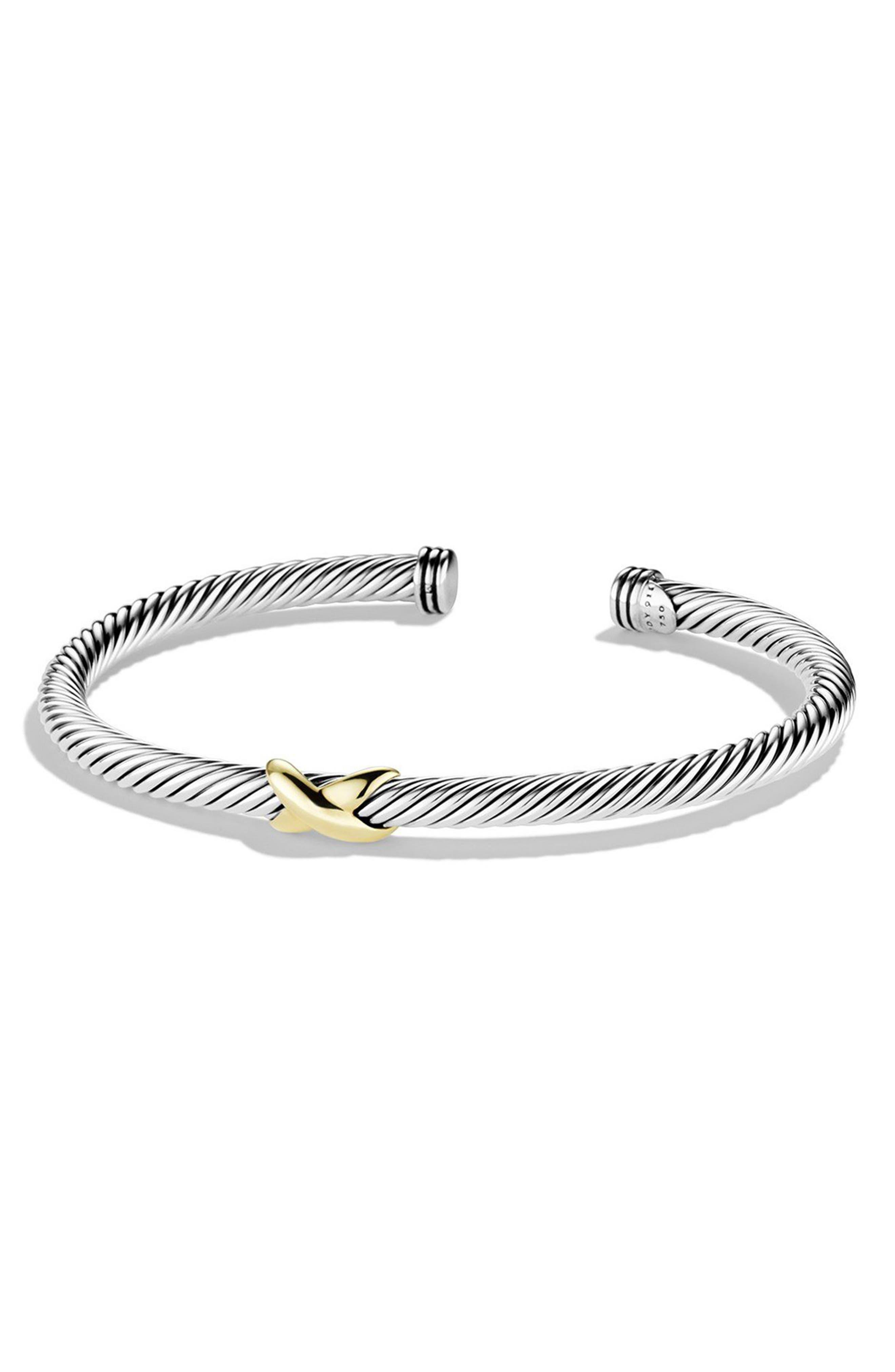 DAVID YURMAN,                             X Cable Bracelet,                             Main thumbnail 1, color,                             040