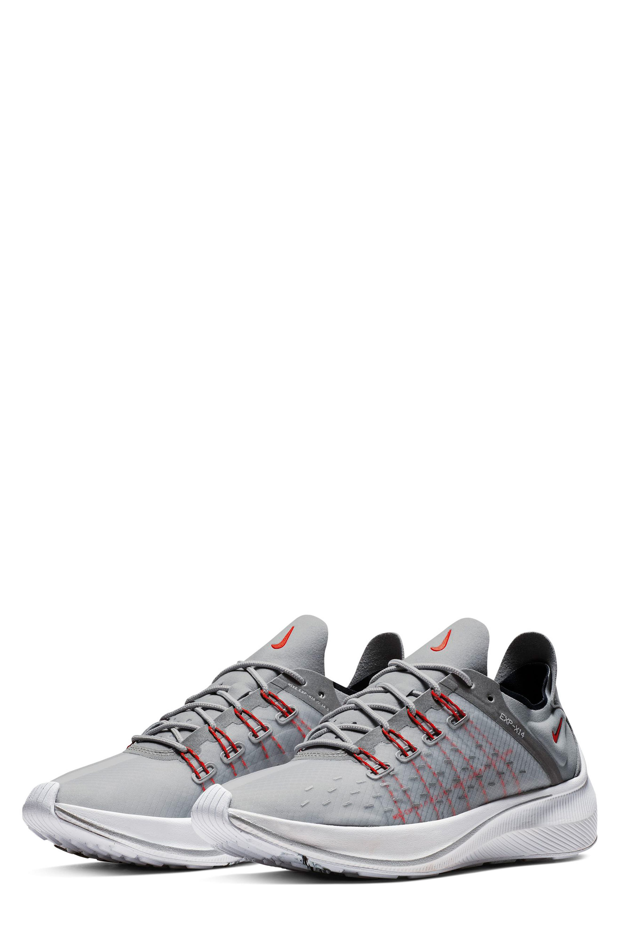 EXP-X14 HR Running Shoe,                             Main thumbnail 1, color,                             SILVER/ CRIMSON/ OBSIDIAN