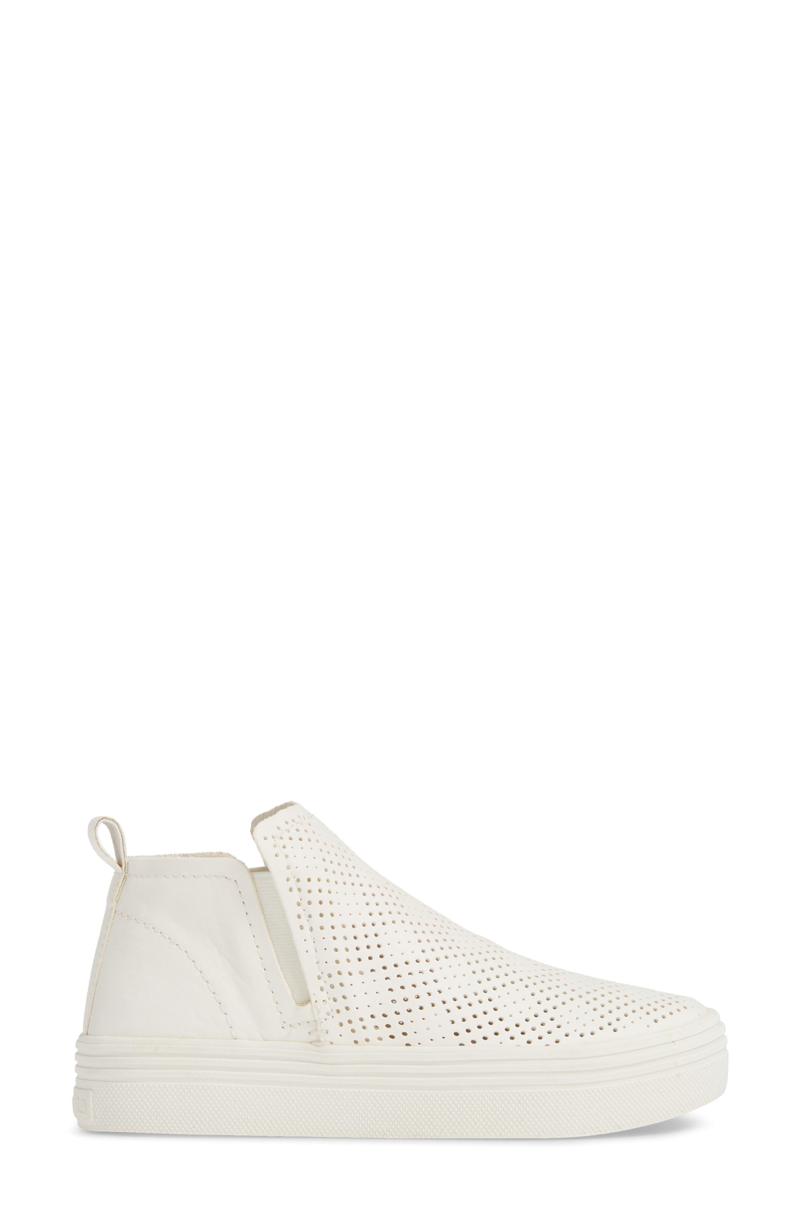 Tate Sneaker,                             Alternate thumbnail 3, color,                             WHITE
