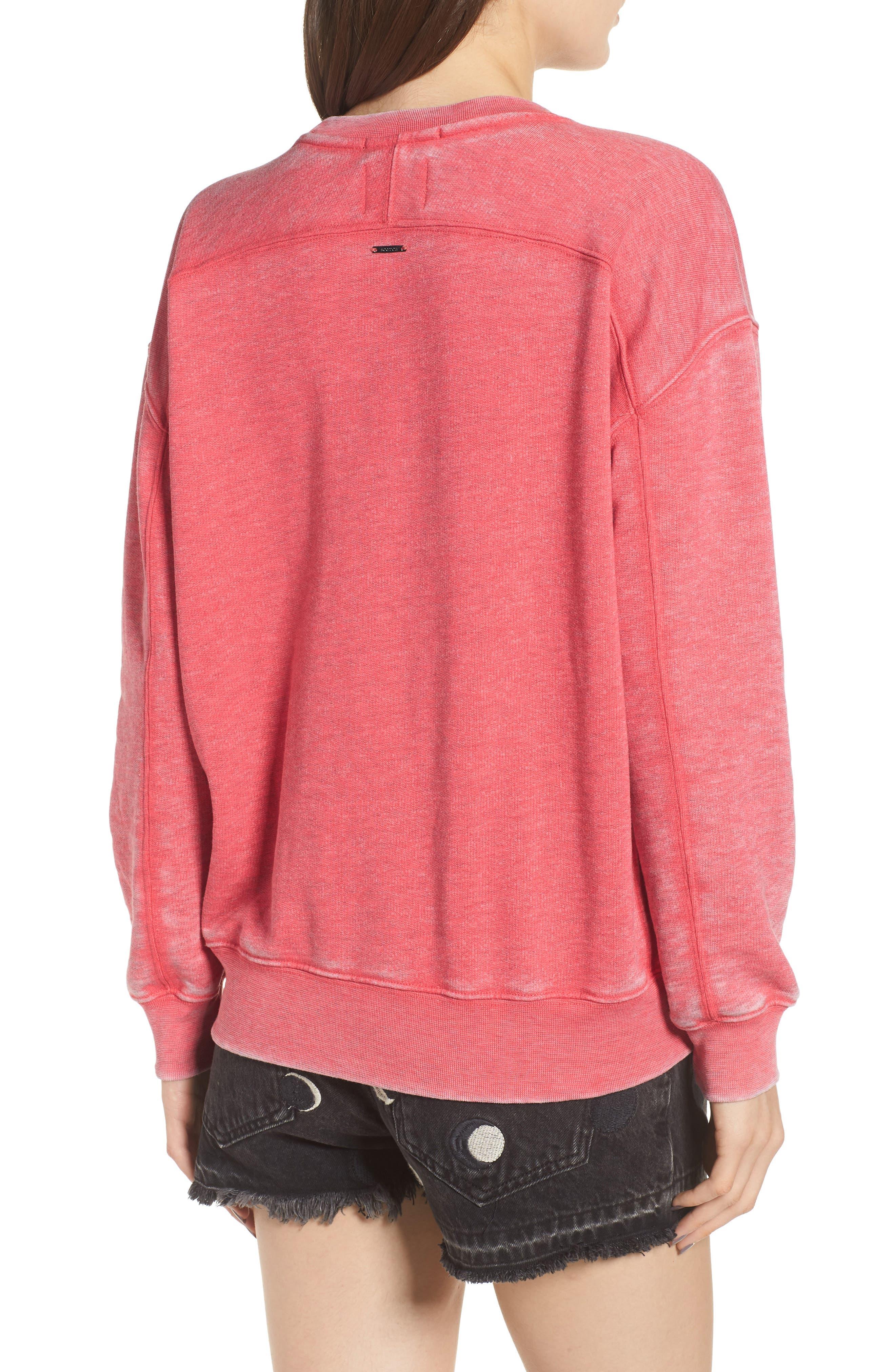 Felix x Scotch & Soda Burnout Appliqué & Graphic Sweatshirt,                             Alternate thumbnail 2, color,                             610
