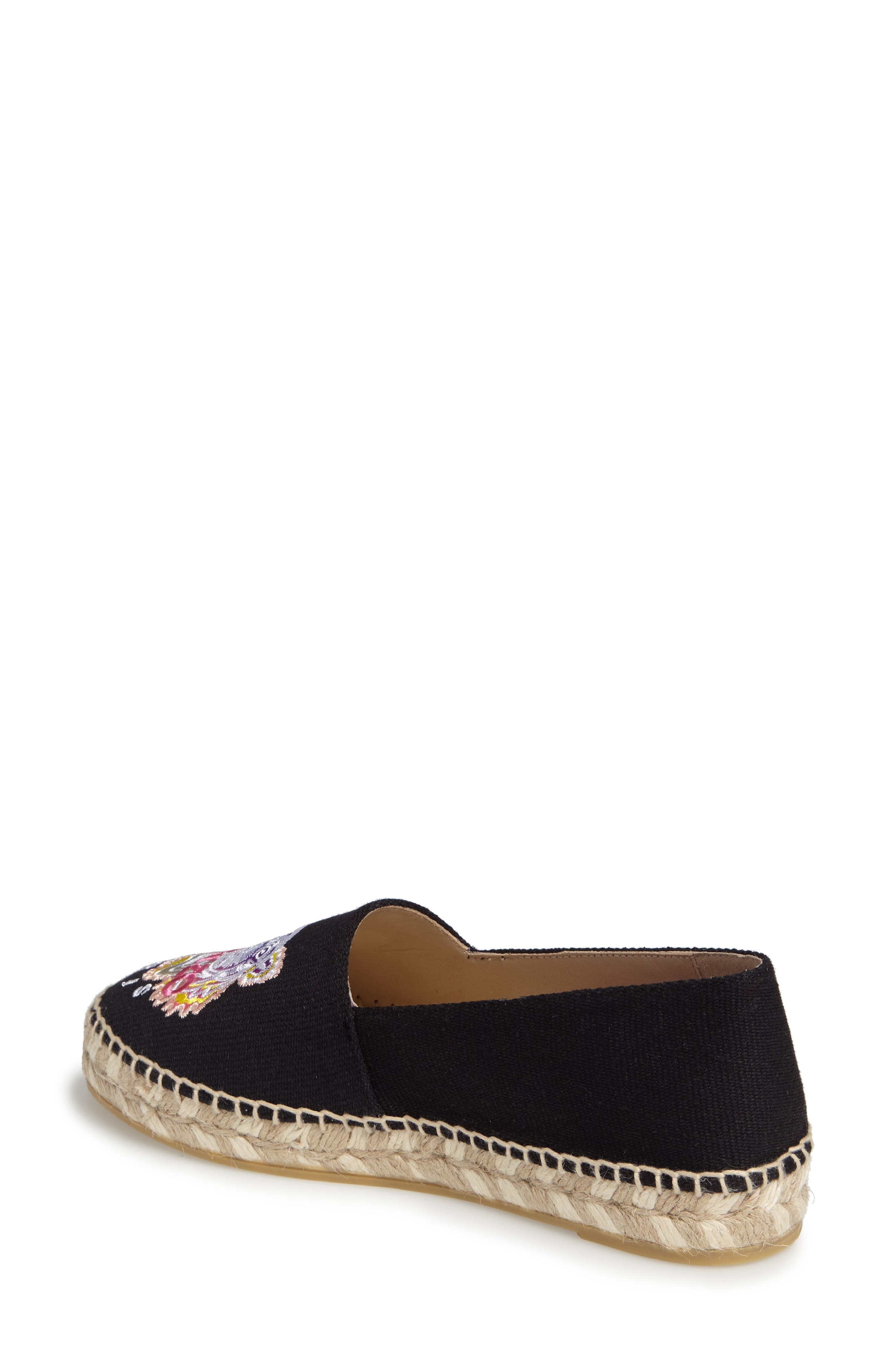 Rainbow Tiger Embroidered Espadrille,                             Alternate thumbnail 2, color,                             001