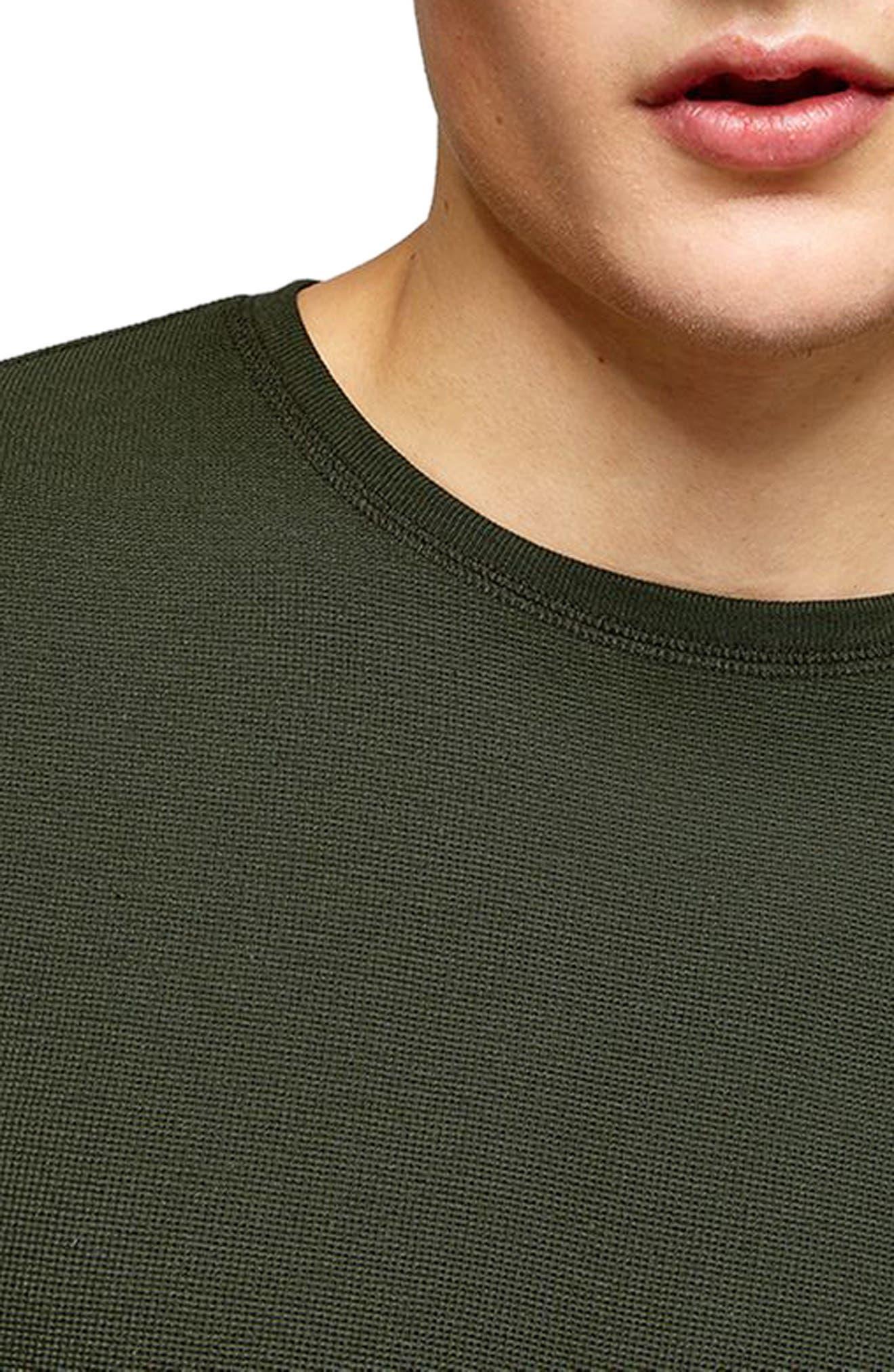 Waffle Knit Long Sleeve T-Shirt,                             Alternate thumbnail 12, color,