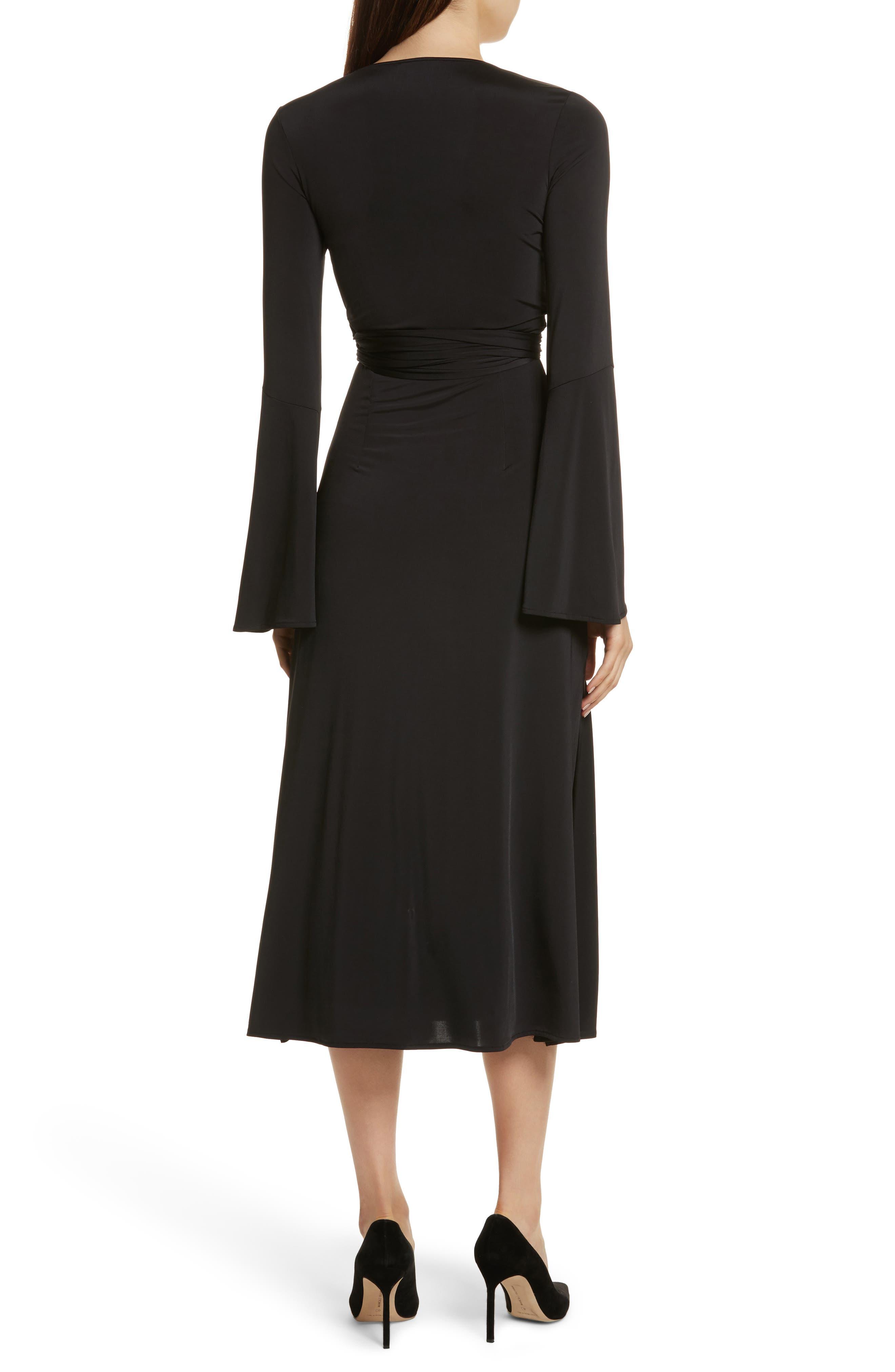 Lourdes Jersey Wrap Midi Dress,                             Alternate thumbnail 2, color,                             001