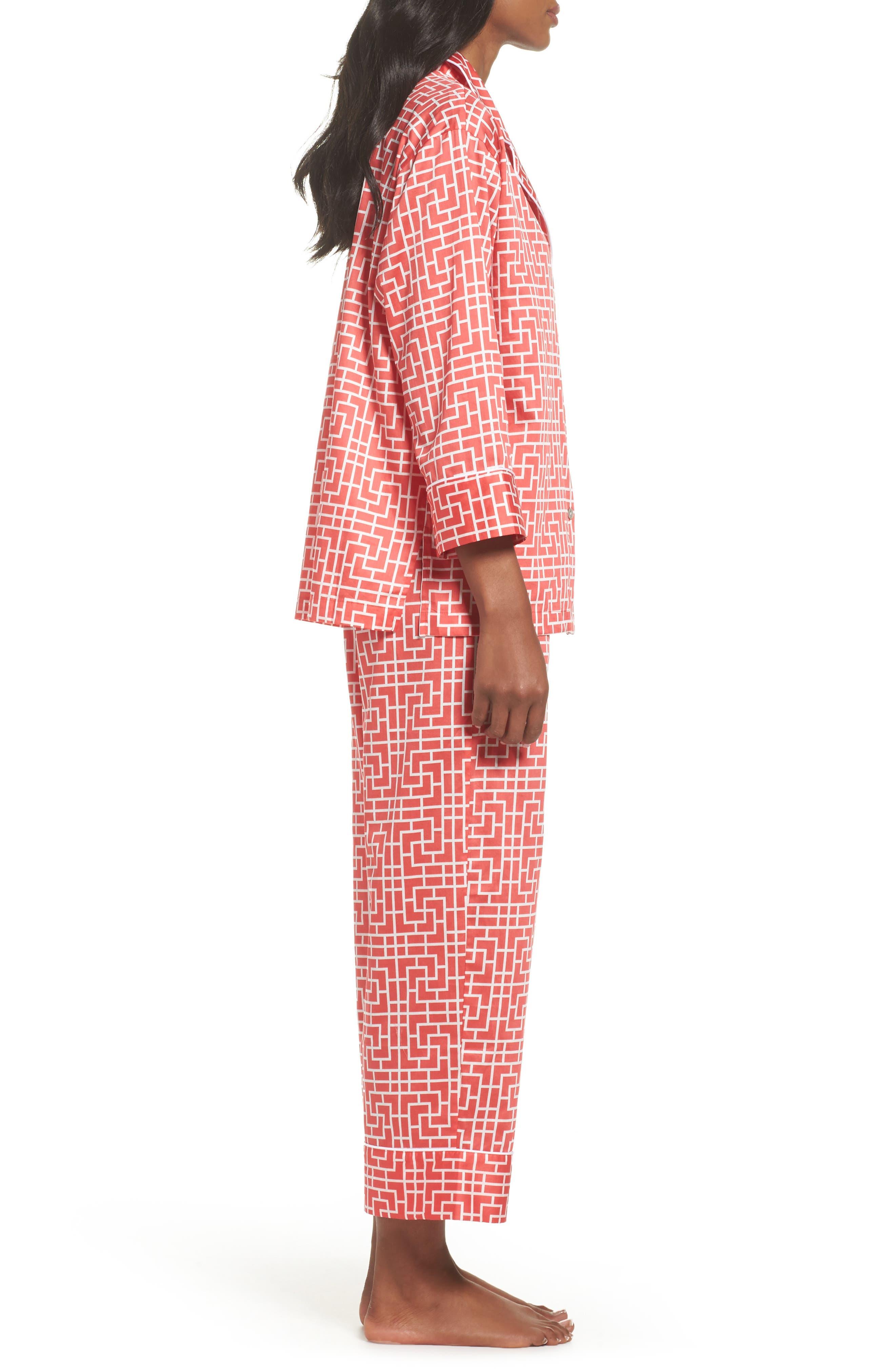 Abstract Maze Sateen Pajamas,                             Alternate thumbnail 6, color,