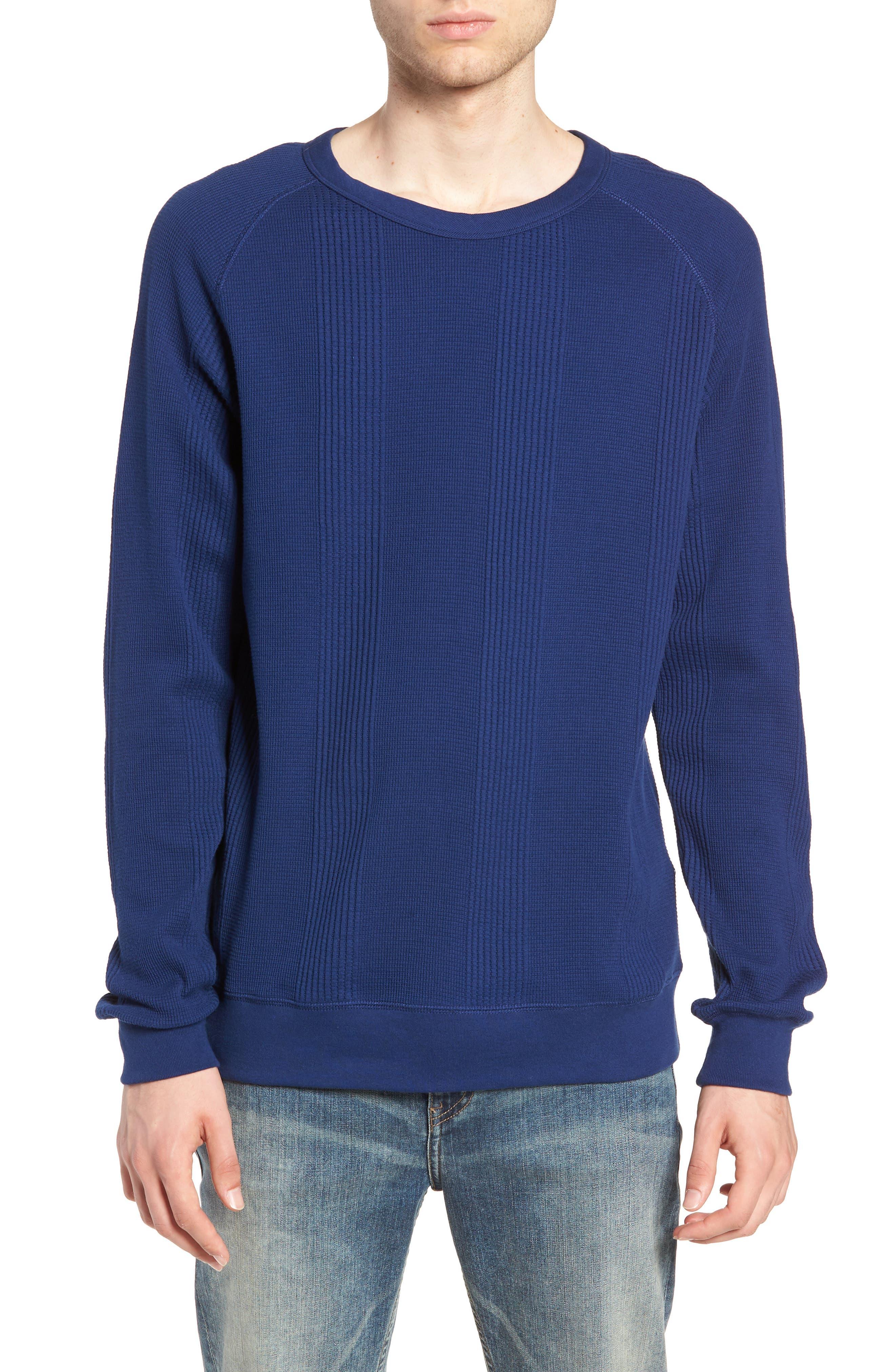 Kasu Waffle Stripe Sweater,                         Main,                         color, COBALT