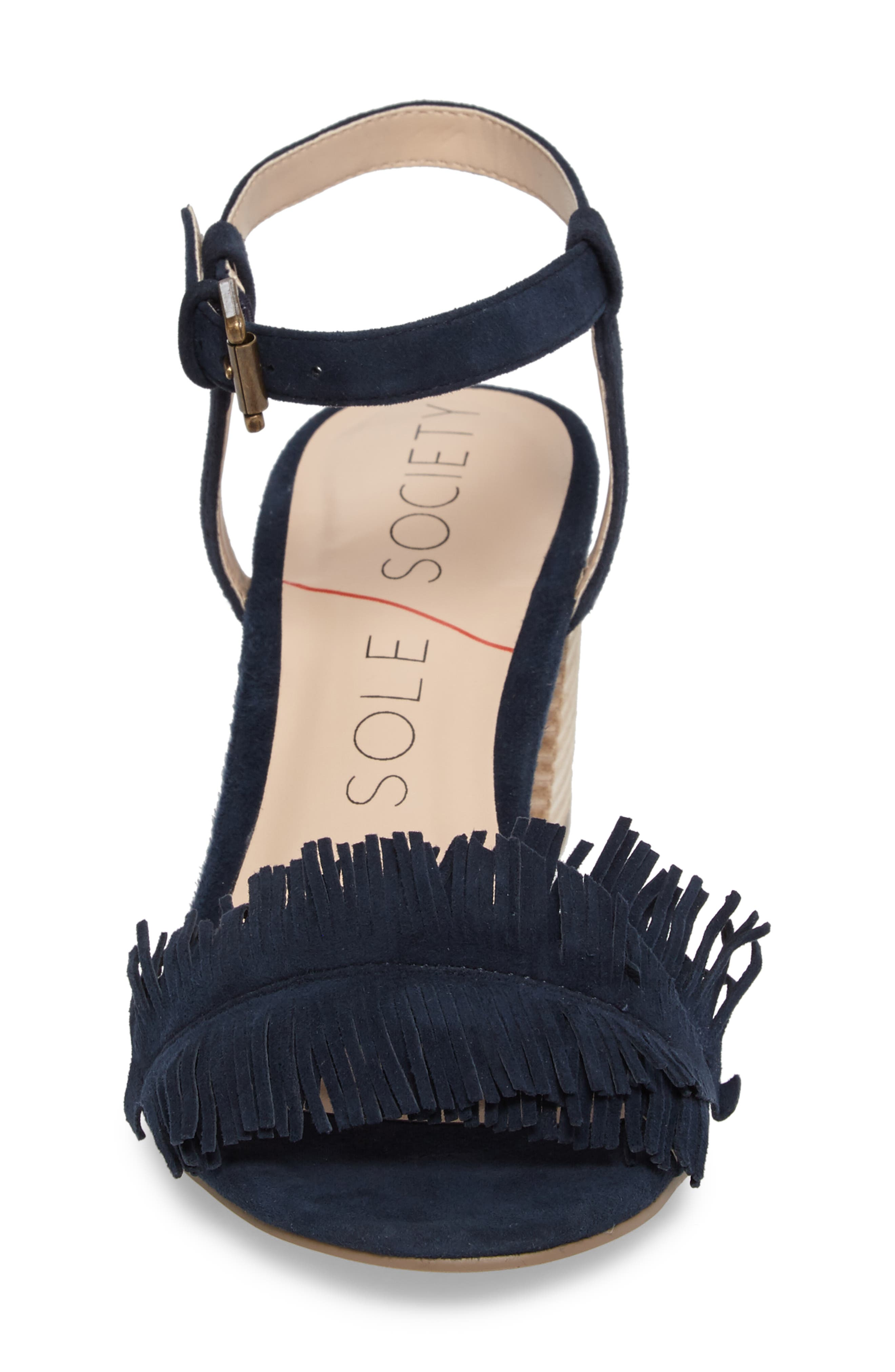 Sepia Fringe Sandal,                             Alternate thumbnail 11, color,
