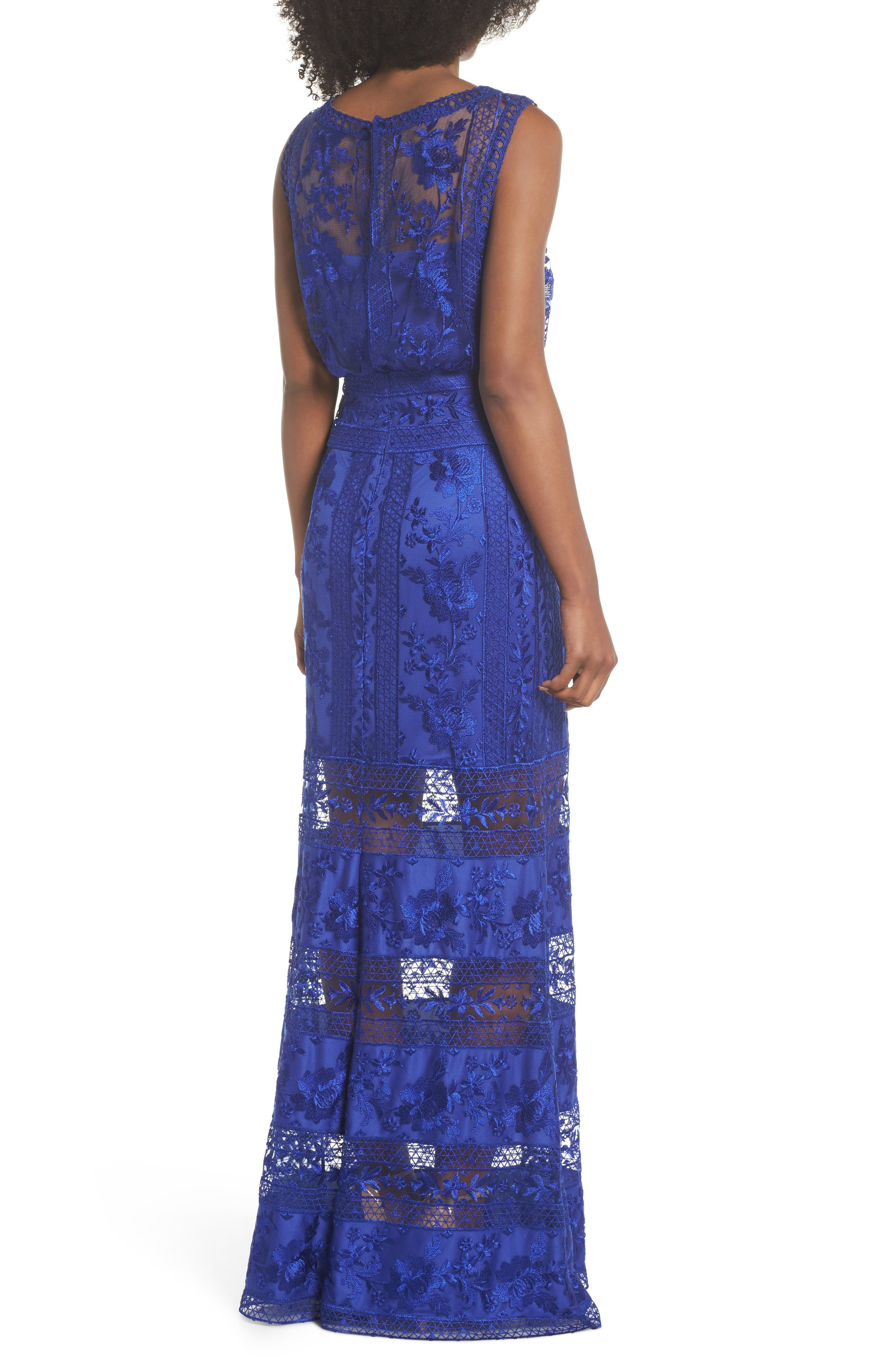 Kaisra Embroidered Lace Gown,                             Alternate thumbnail 2, color,                             400
