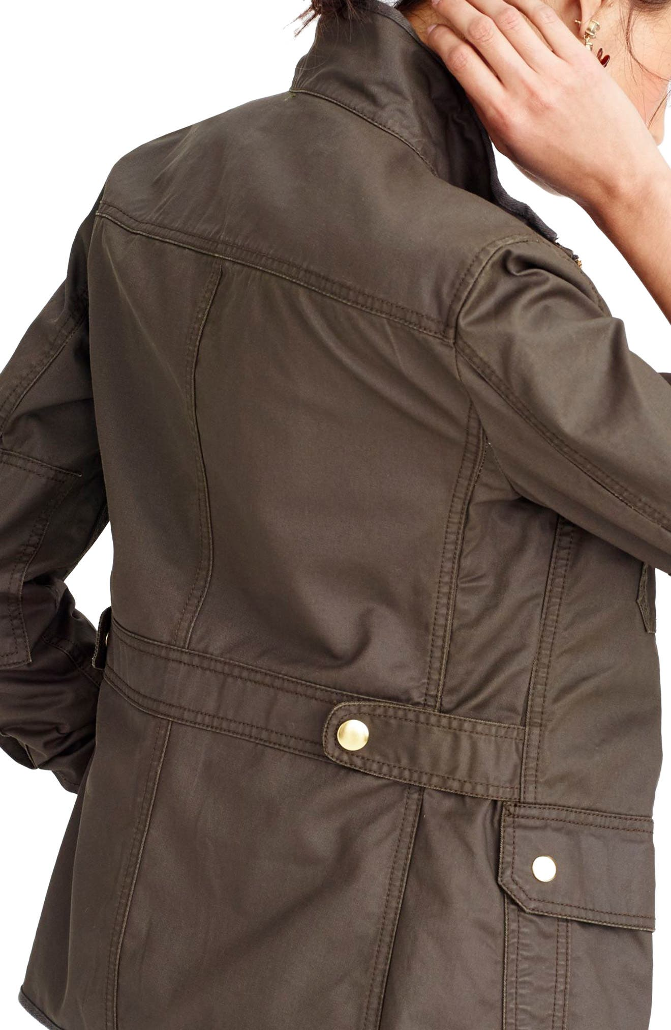 J.CREW Downtown Field Jacket in Mossy Brown