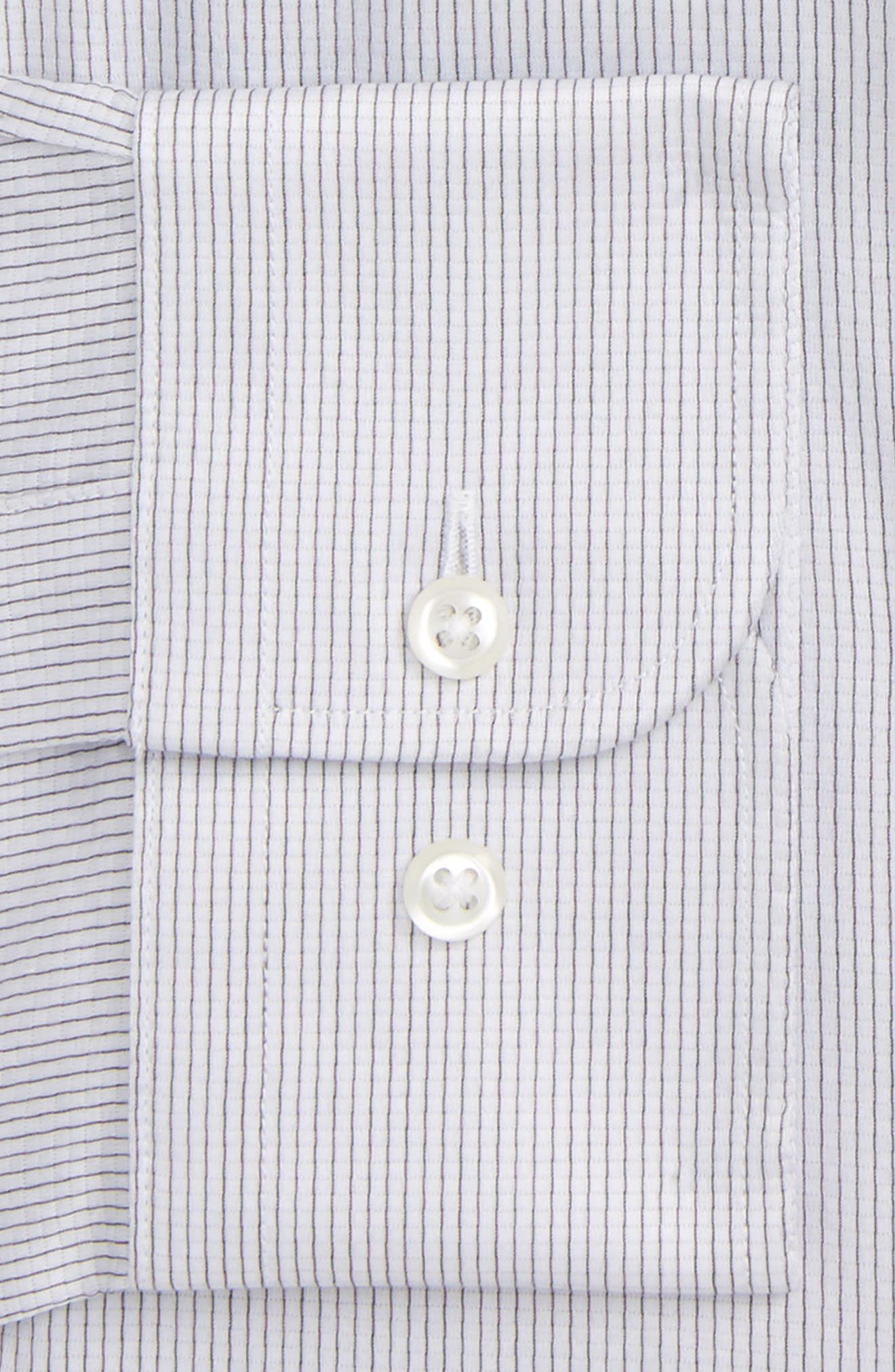 Trim Fit Stripe Dress Shirt,                             Alternate thumbnail 16, color,